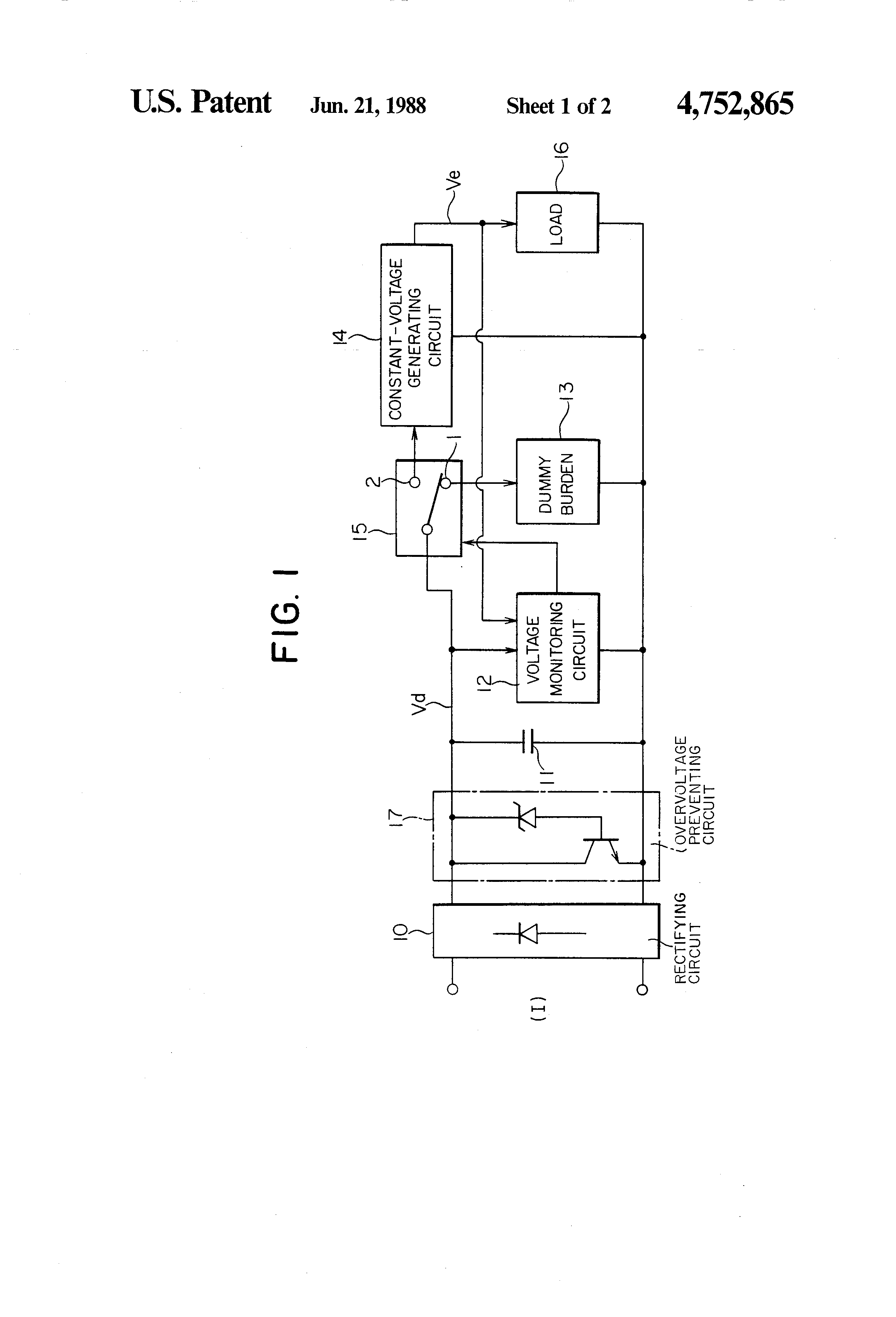 Patent Us4752865 Power Source Device For Circuit Breaker Google Diagram Of The Dummy Load Drawing