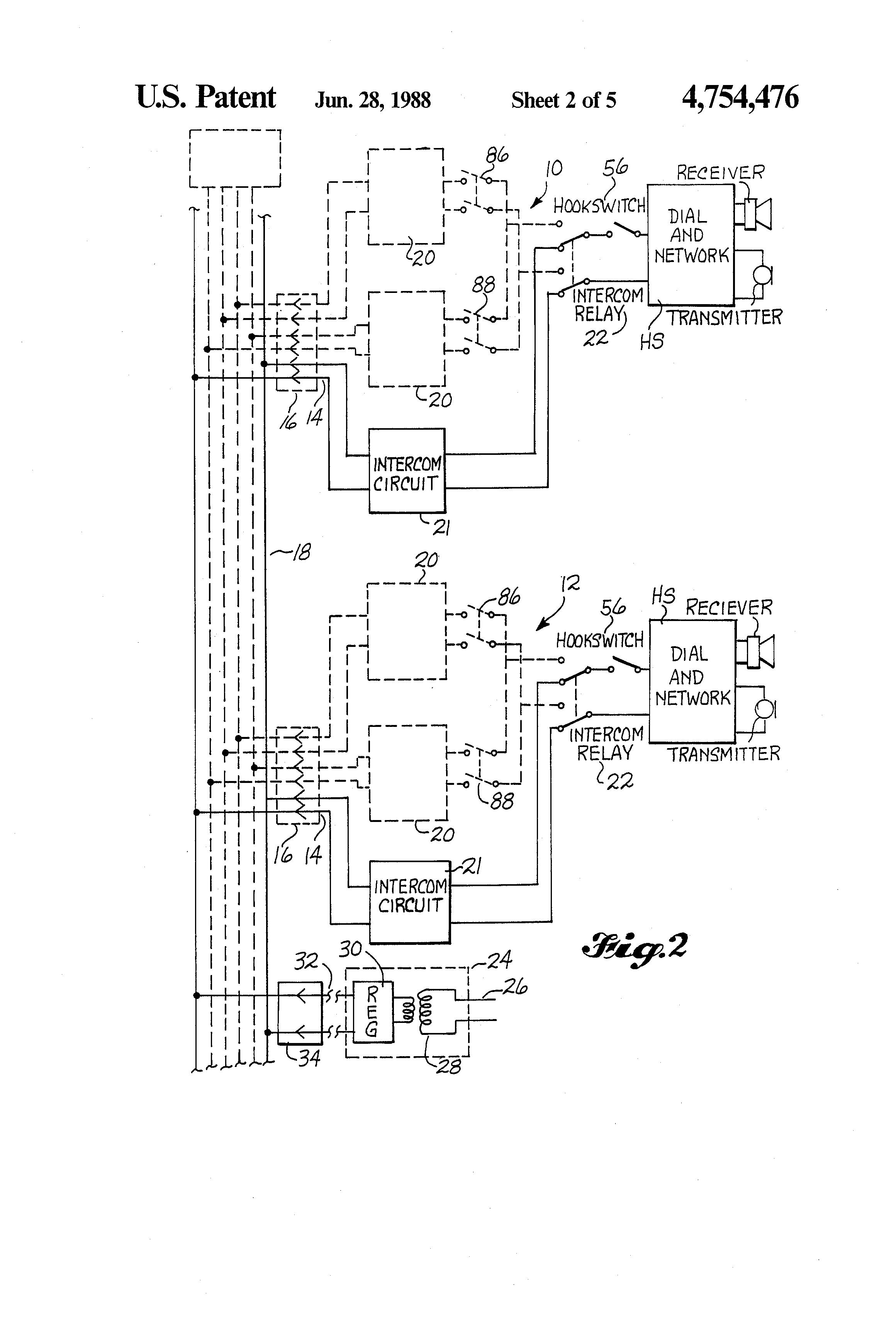 Transistor Intercom Circuit Diagram Of System Patent Us Premises Page Utilizing Telephone 2320x3408