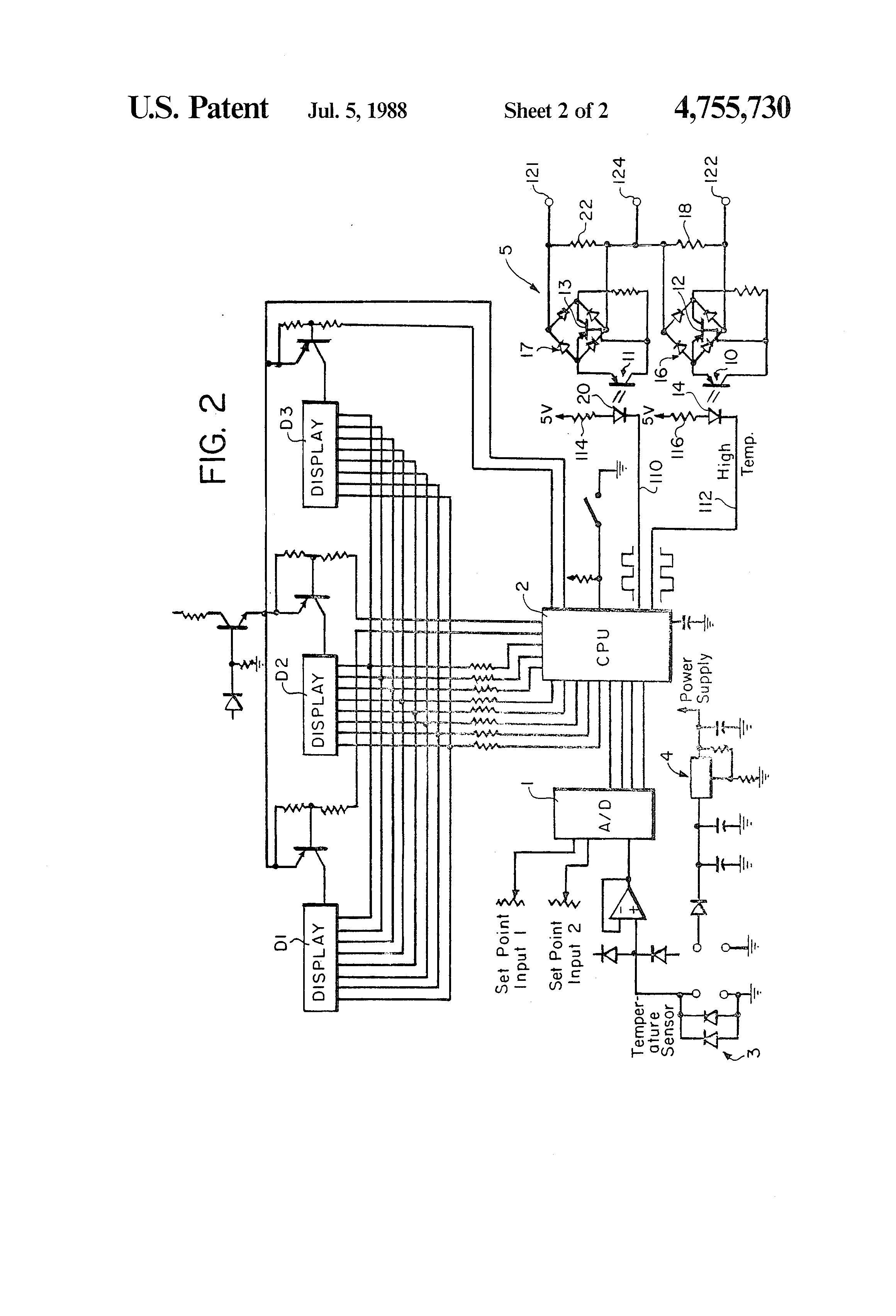 Patent Us4755730 Variable Resistance Output Motor Controller Resistor Circuit Diagram Components Drawing