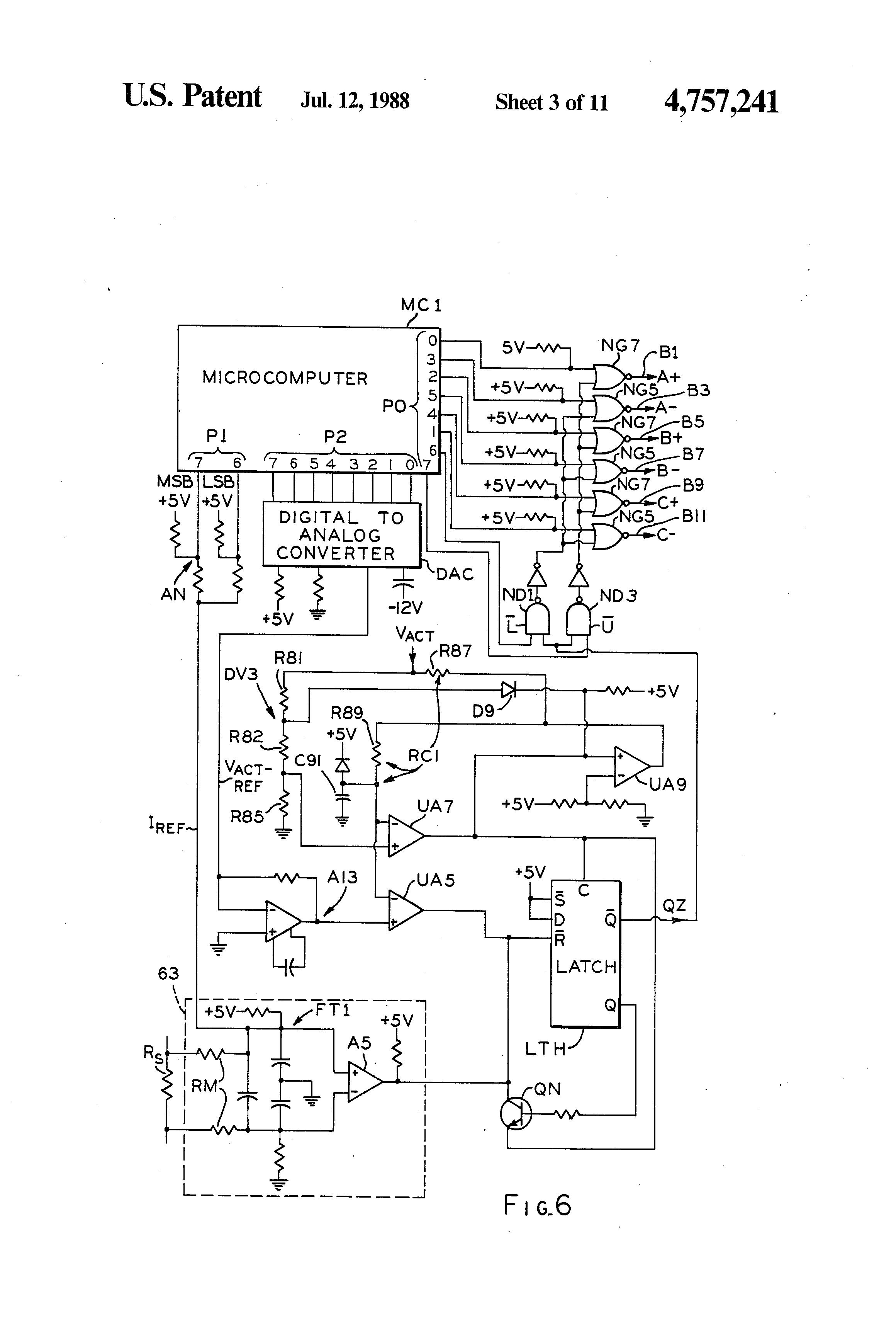 patent us4757241 - pwm system for ecm motor