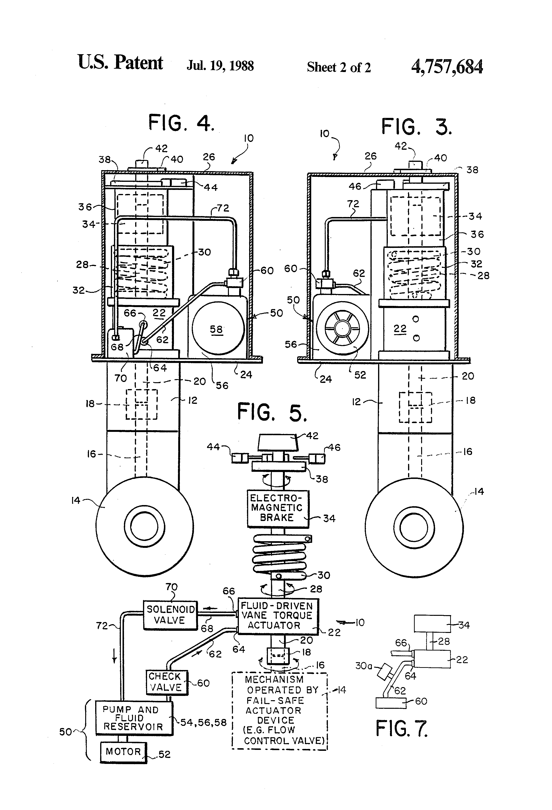 Patent Us4757684 - Fail-safe Electric Actuator
