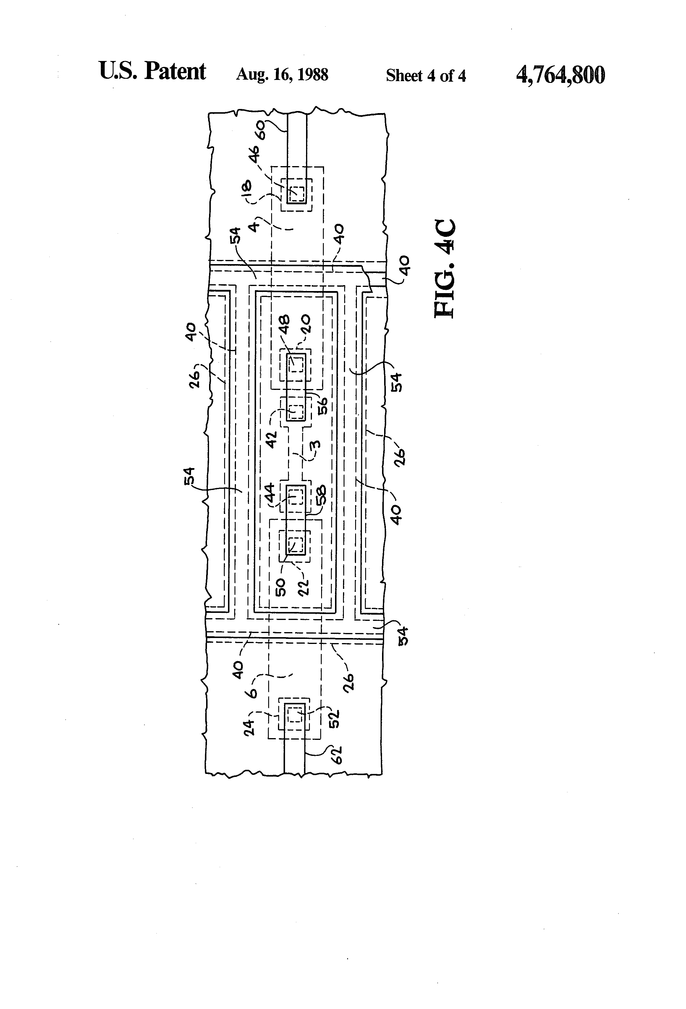 patent us4764800 - seal structure for an integrated circuit
