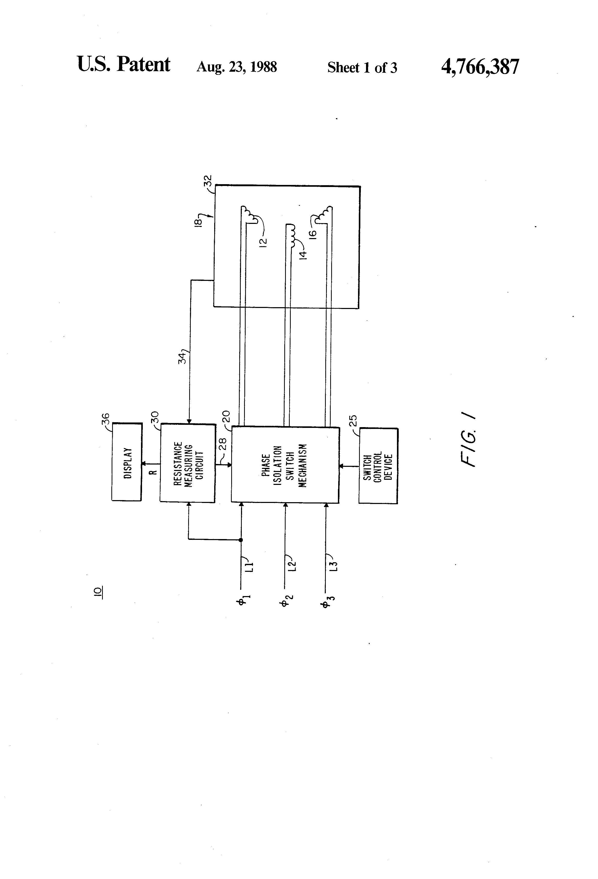 Patent us4766387 motor winding insulation resistance for Motor winding resistance measurement