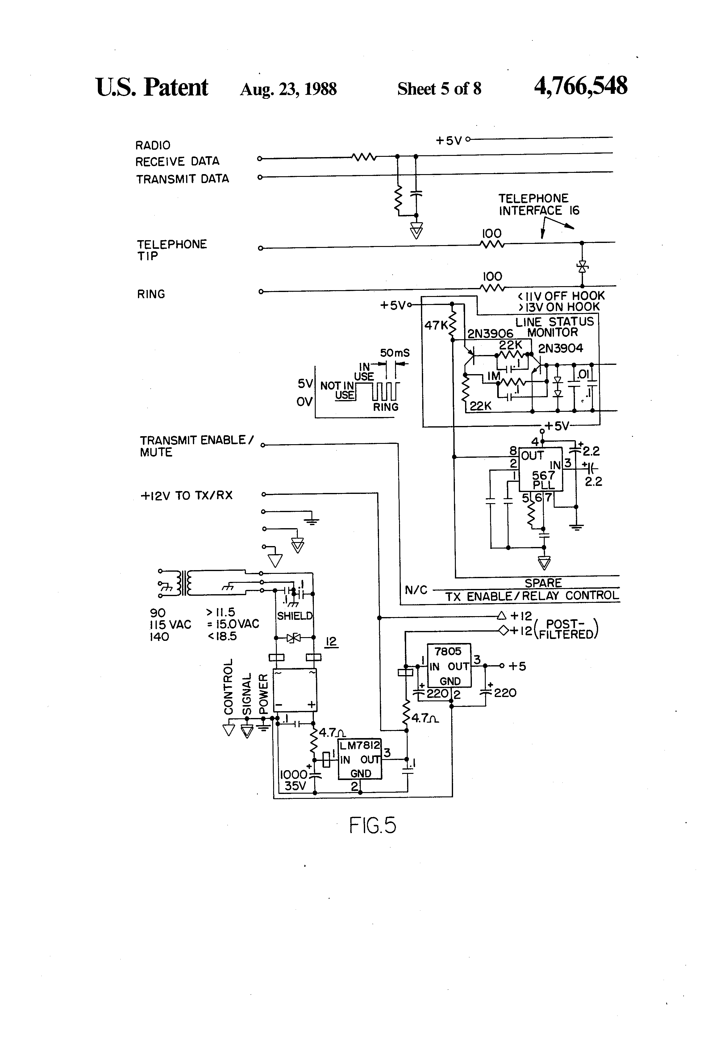 US4766548 5 patent us4766548 telelink monitoring and reporting system hobart h600 wiring diagram at webbmarketing.co
