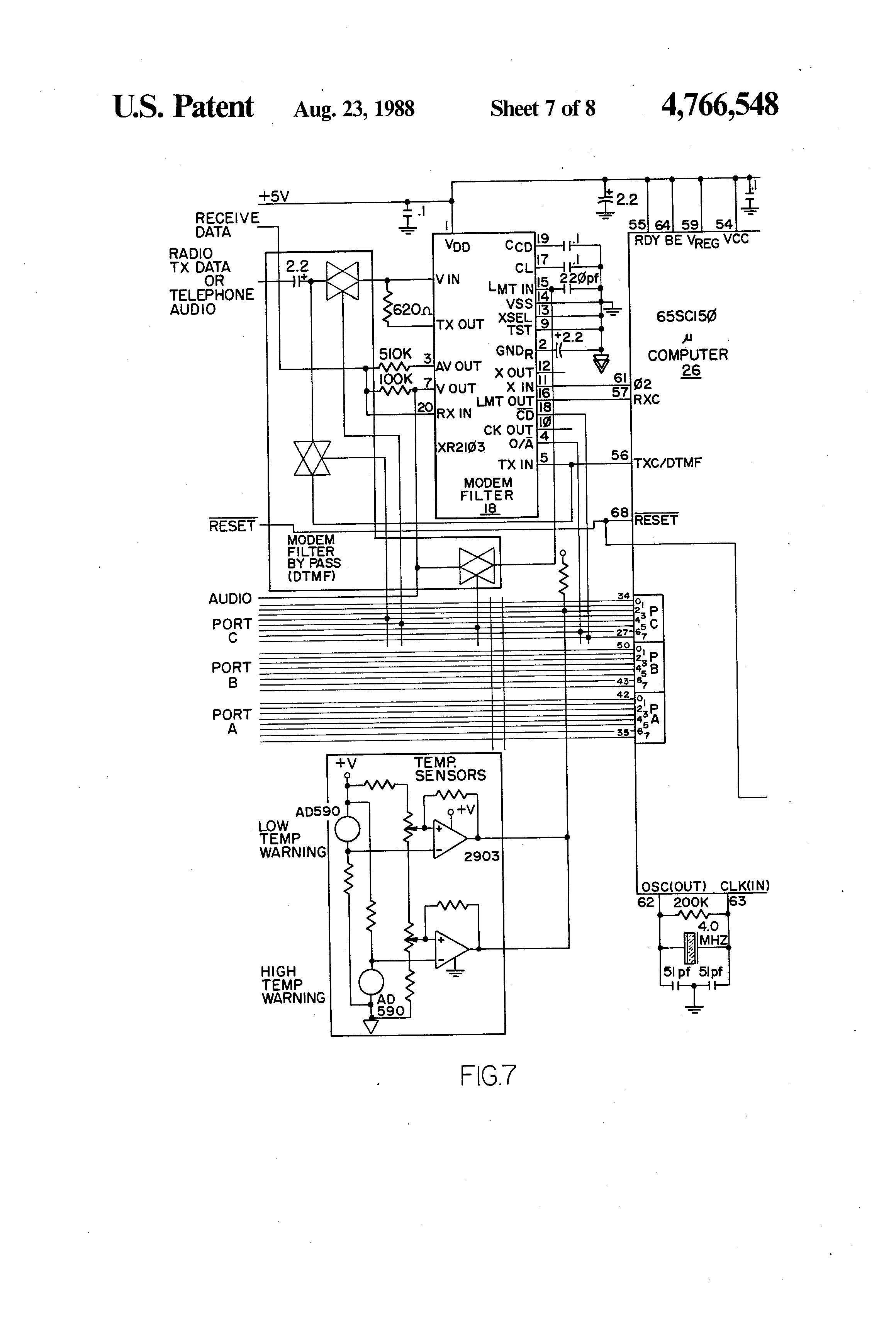 US4766548 7 patent us4766548 telelink monitoring and reporting system hobart h600 wiring diagram at webbmarketing.co