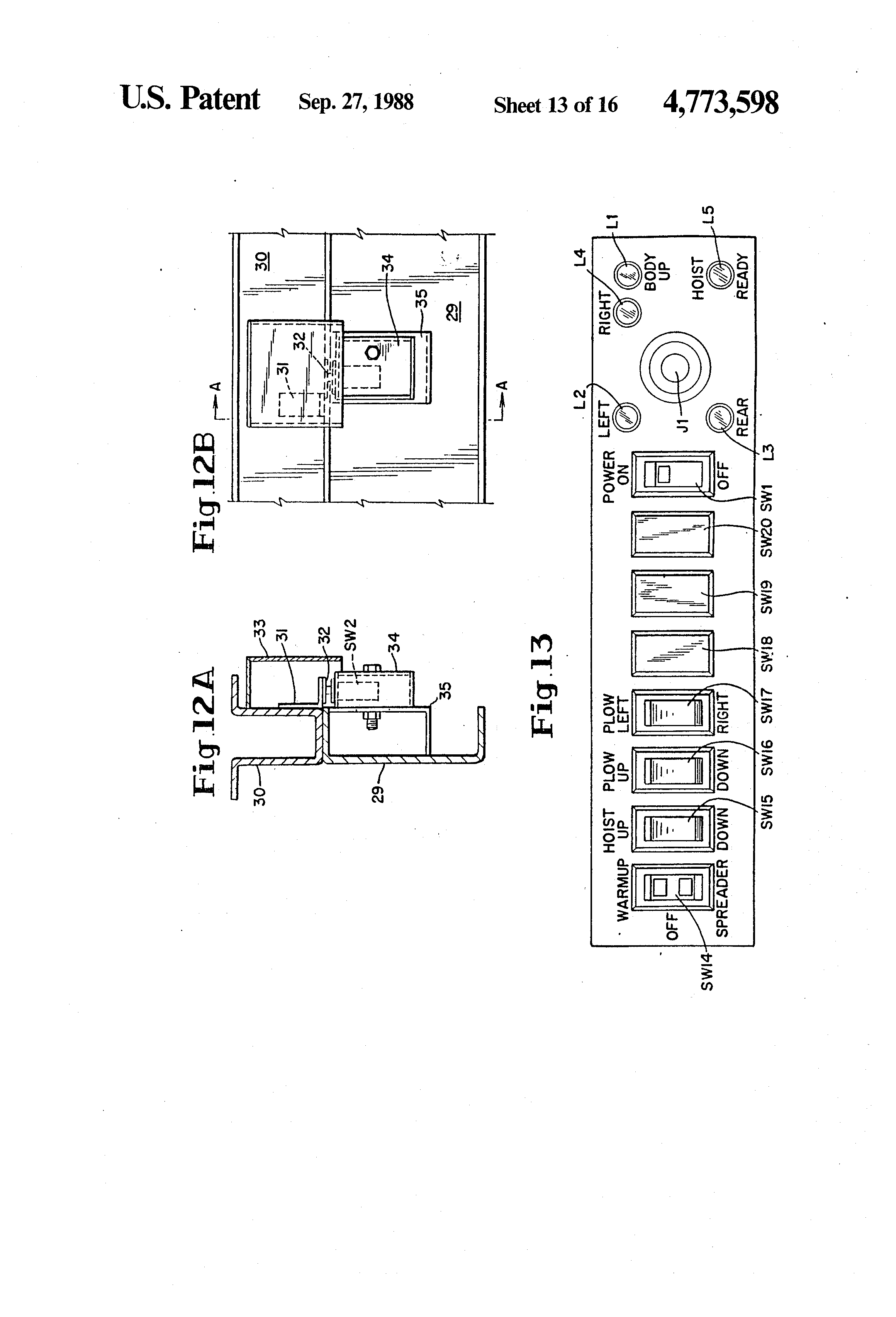 US4773598 13 patent us4773598 multi direction dump body for trucks google Snow Plow E60 Wiring-Diagram at bayanpartner.co