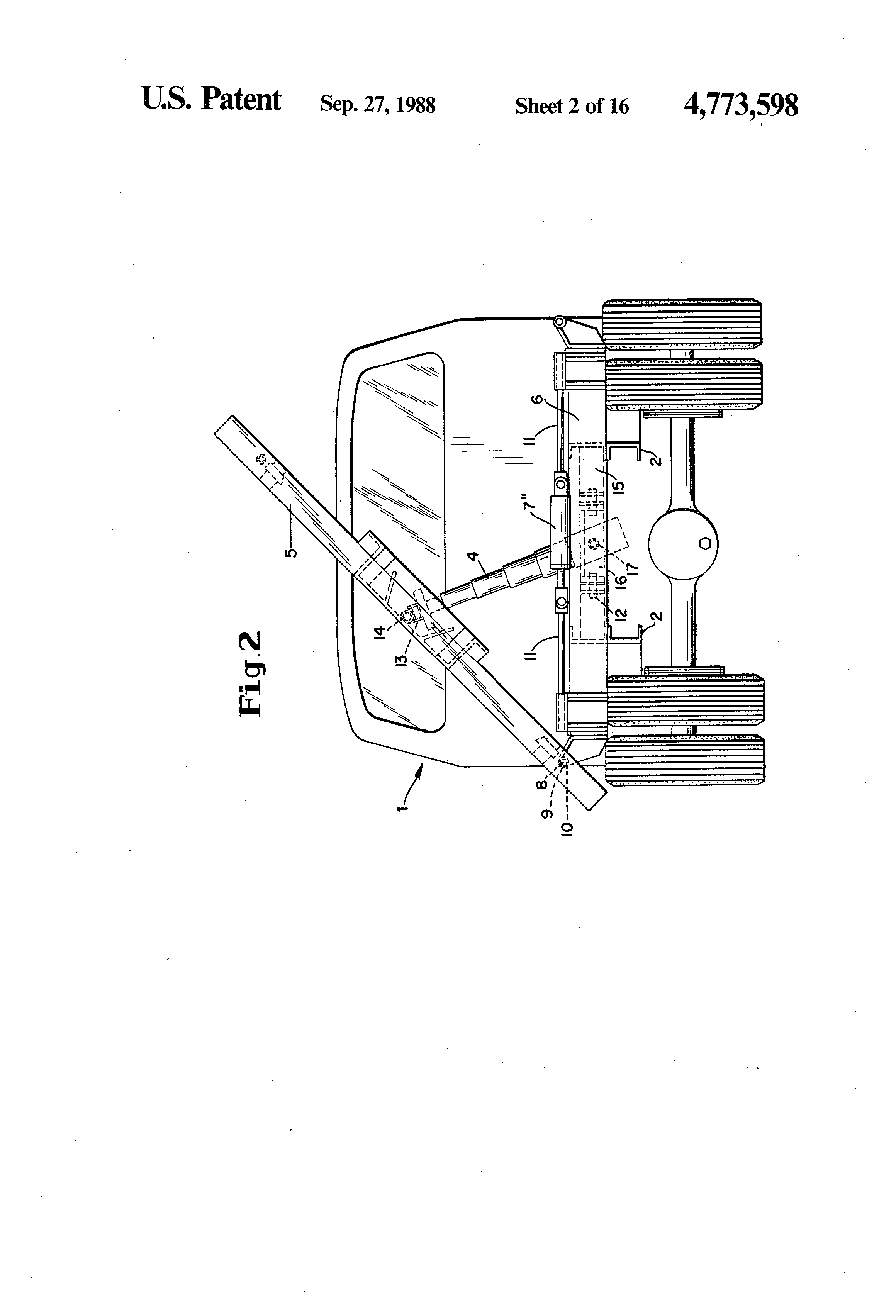 patent us4773598 multi direction dump body for trucks google patent drawing