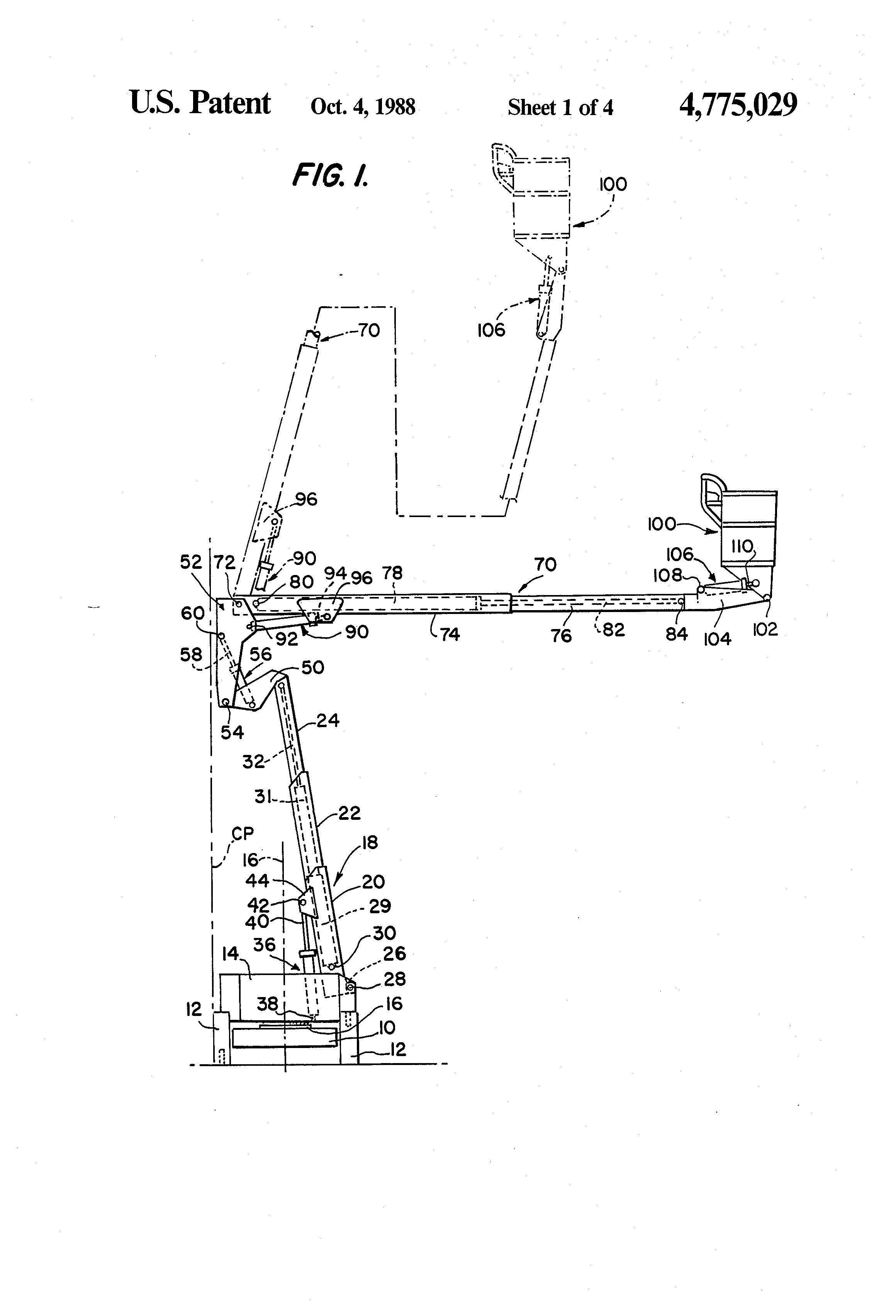 US4775029 1 patent us4775029 collapsible tower boom lift google patents Fabtek Parts at crackthecode.co