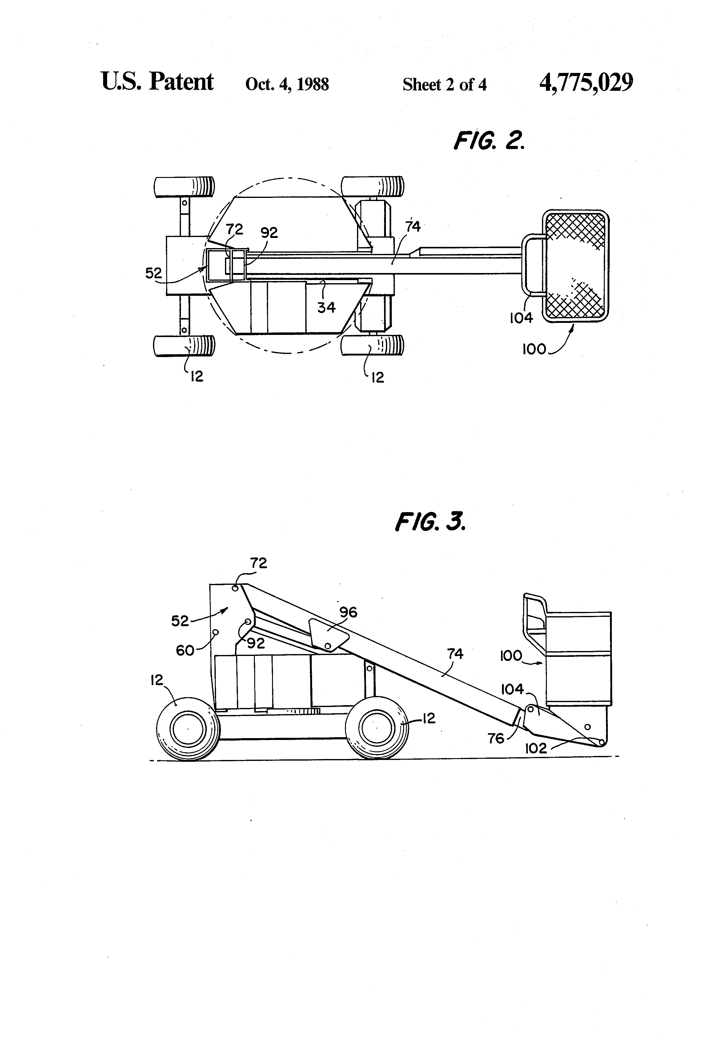 US4775029 2 patent us4775029 collapsible tower boom lift google patents Fabtek Parts at crackthecode.co