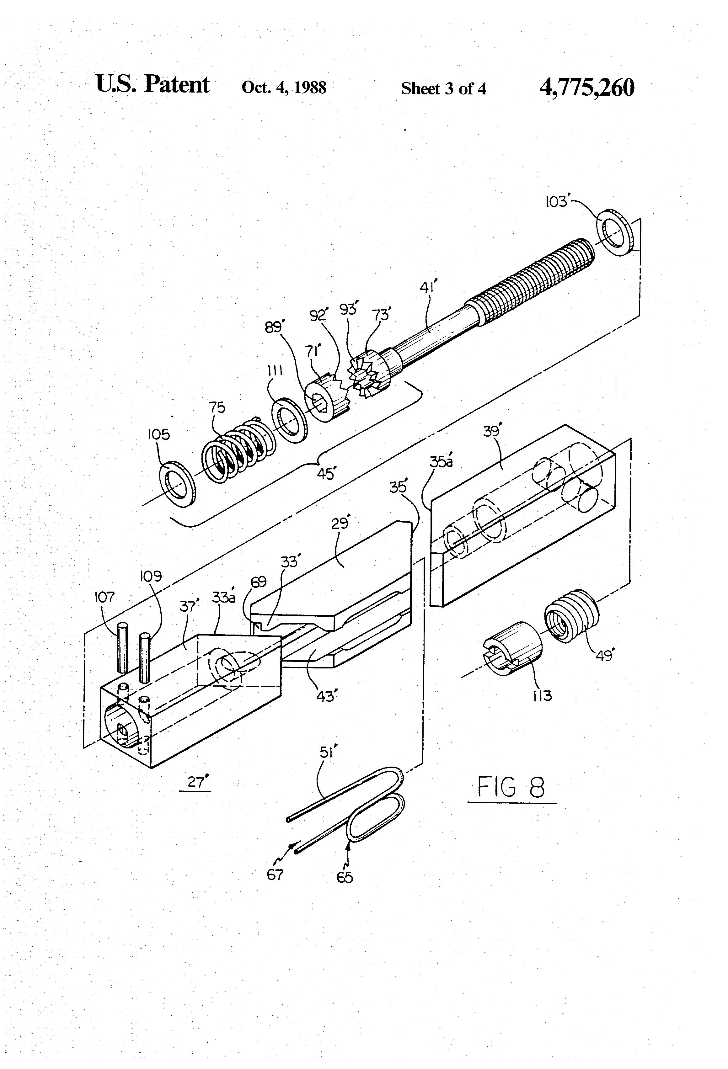 patent us4775260 - printed circuit board mounting apparatus