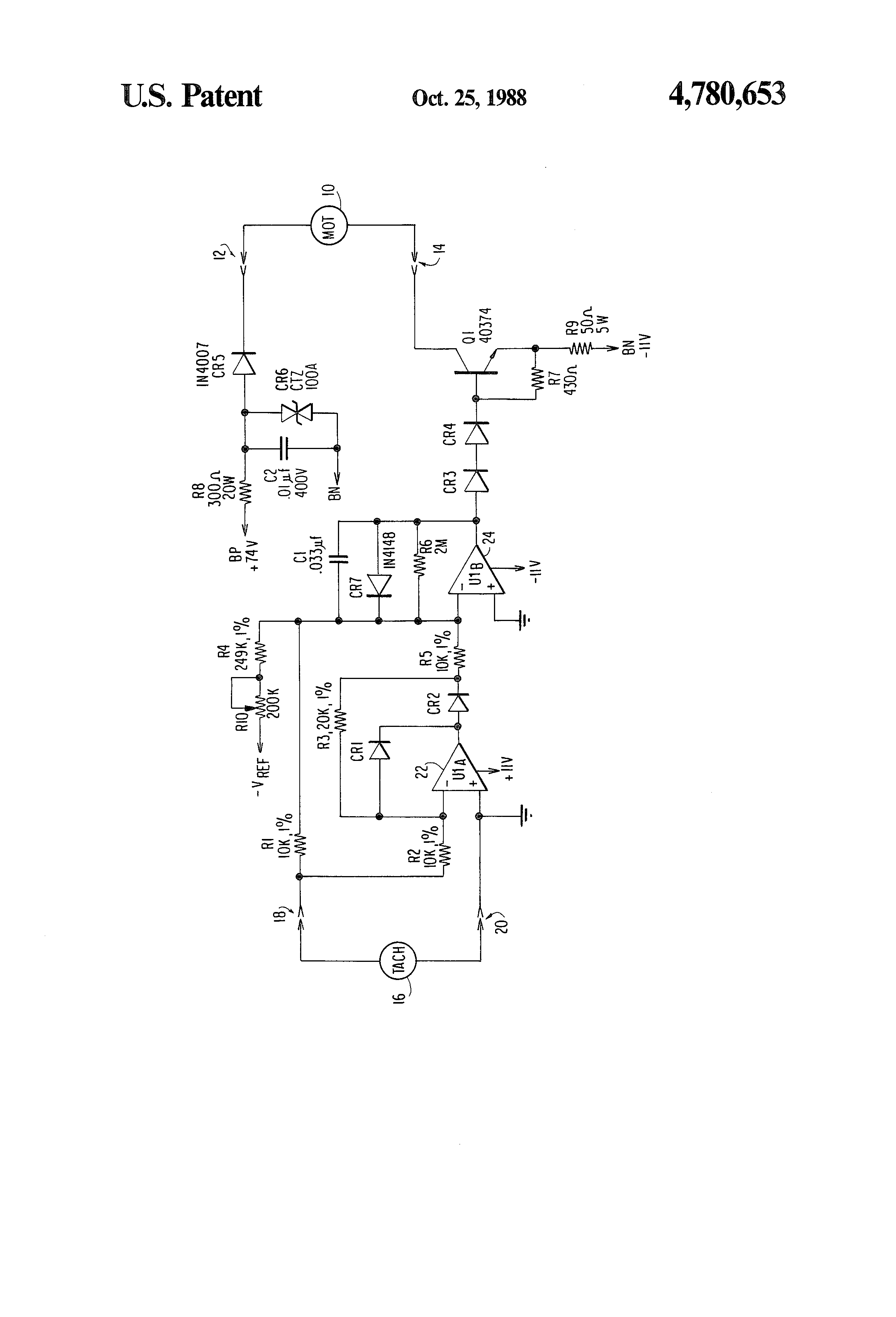 Brevet Us4780653 Anti Stall Motor Drive Google Brevets Pmg Generator Diagram Sometimes The Is Already In Use Patent Drawing