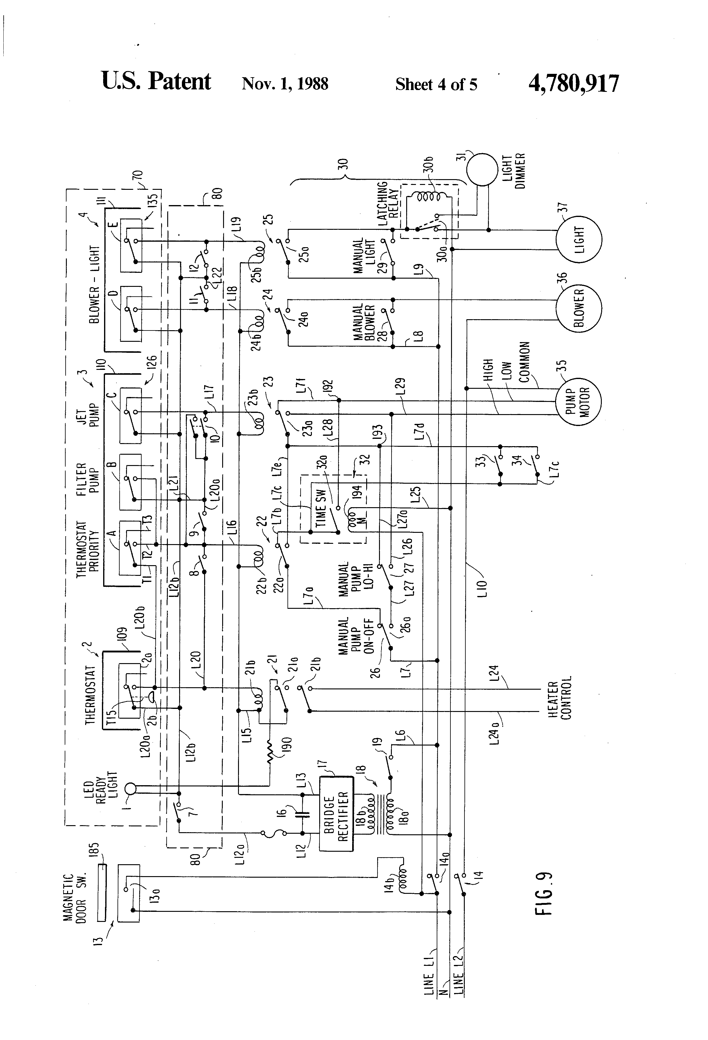 patent us4780917 spa construction with integrated spa side and inside system