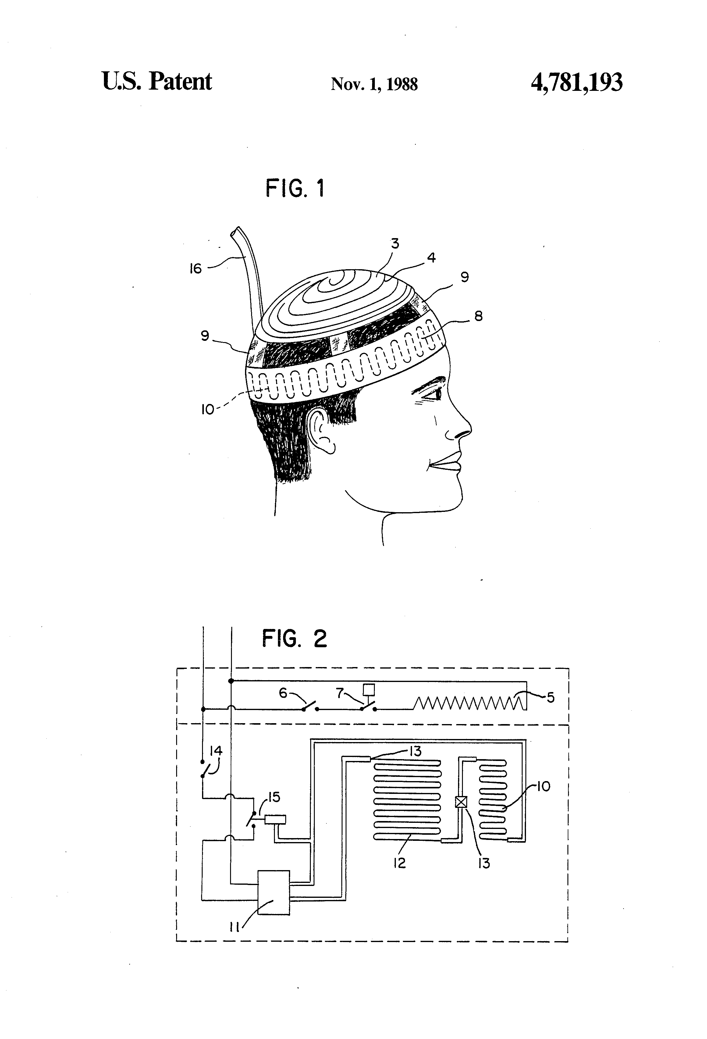 patent us4781193 - headache treatment apparatus