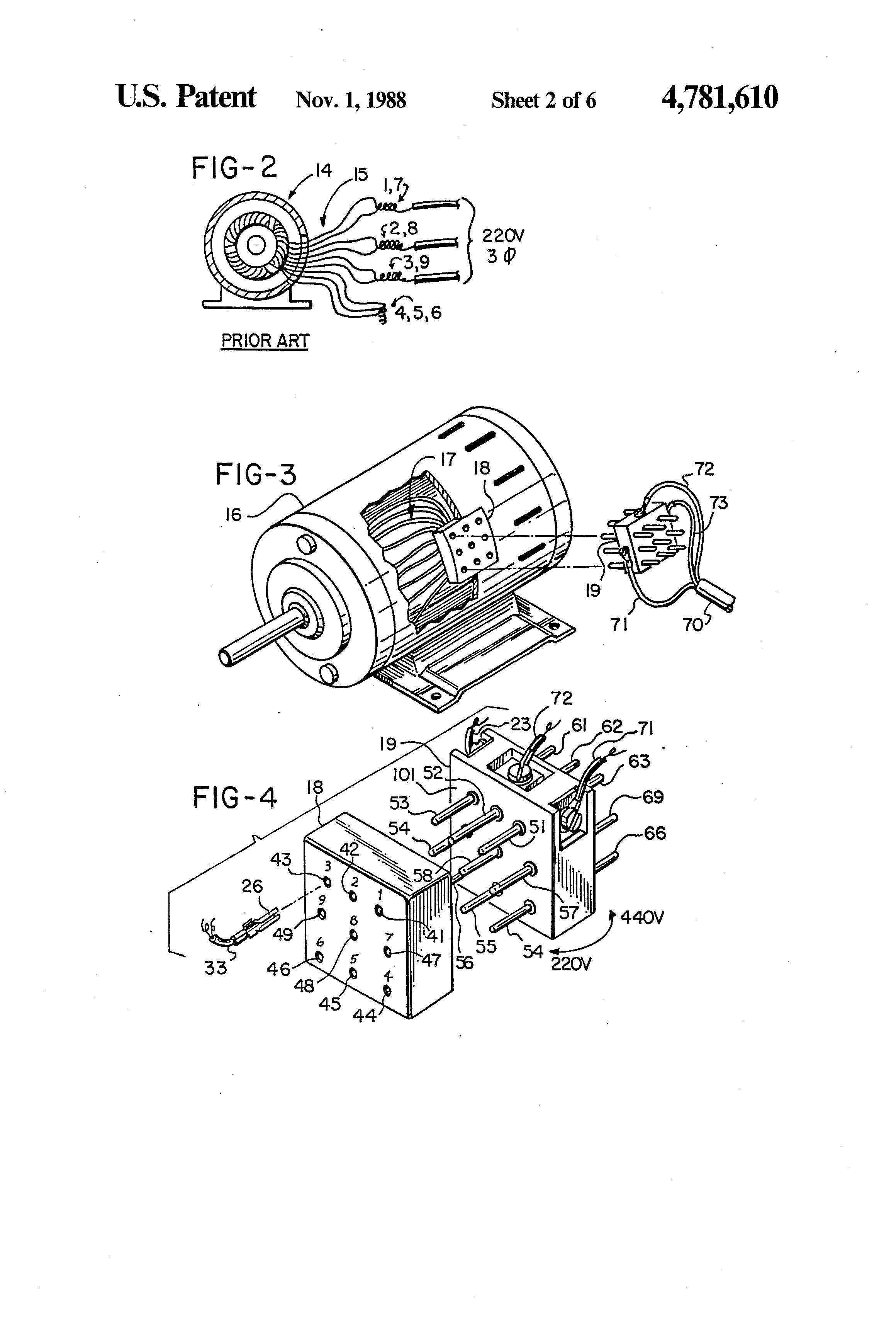 US4781610 2 patent us4781610 voltage selector for a three phase electrical sew eurodrive wiring diagram at eliteediting.co