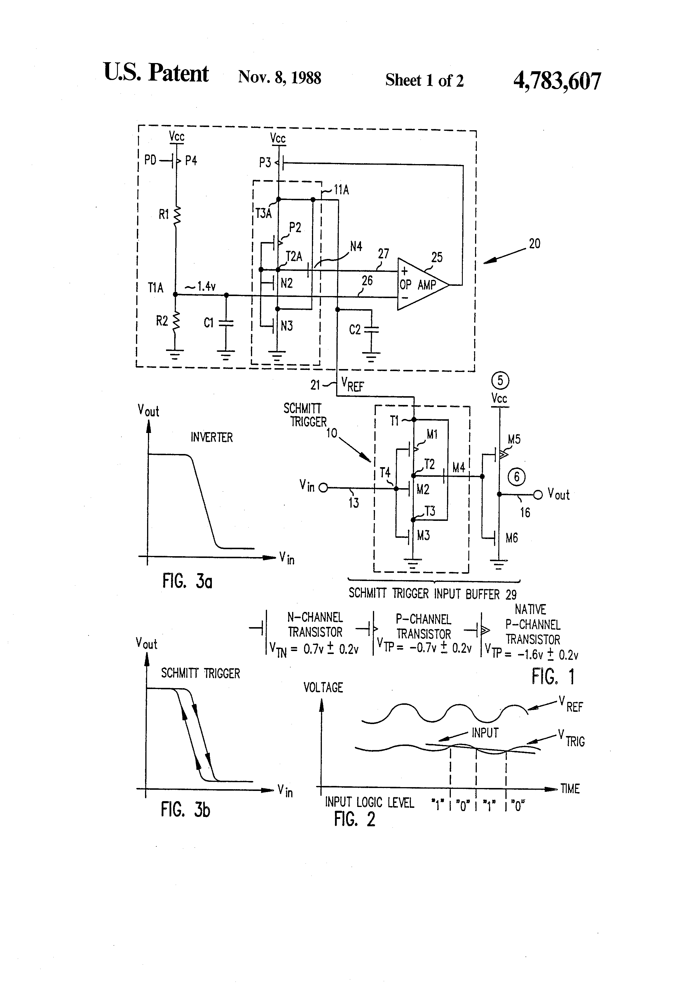 patent us4783607  cmos compatible input buffer with