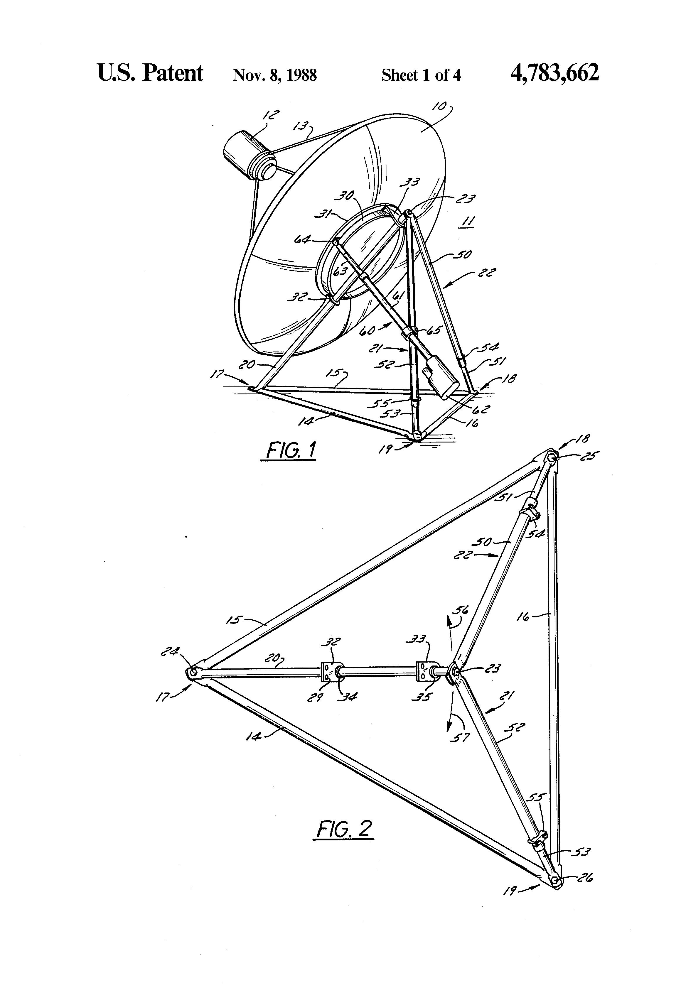 Patent Us4783662 Polar Mount For Satellite Dish Antenna