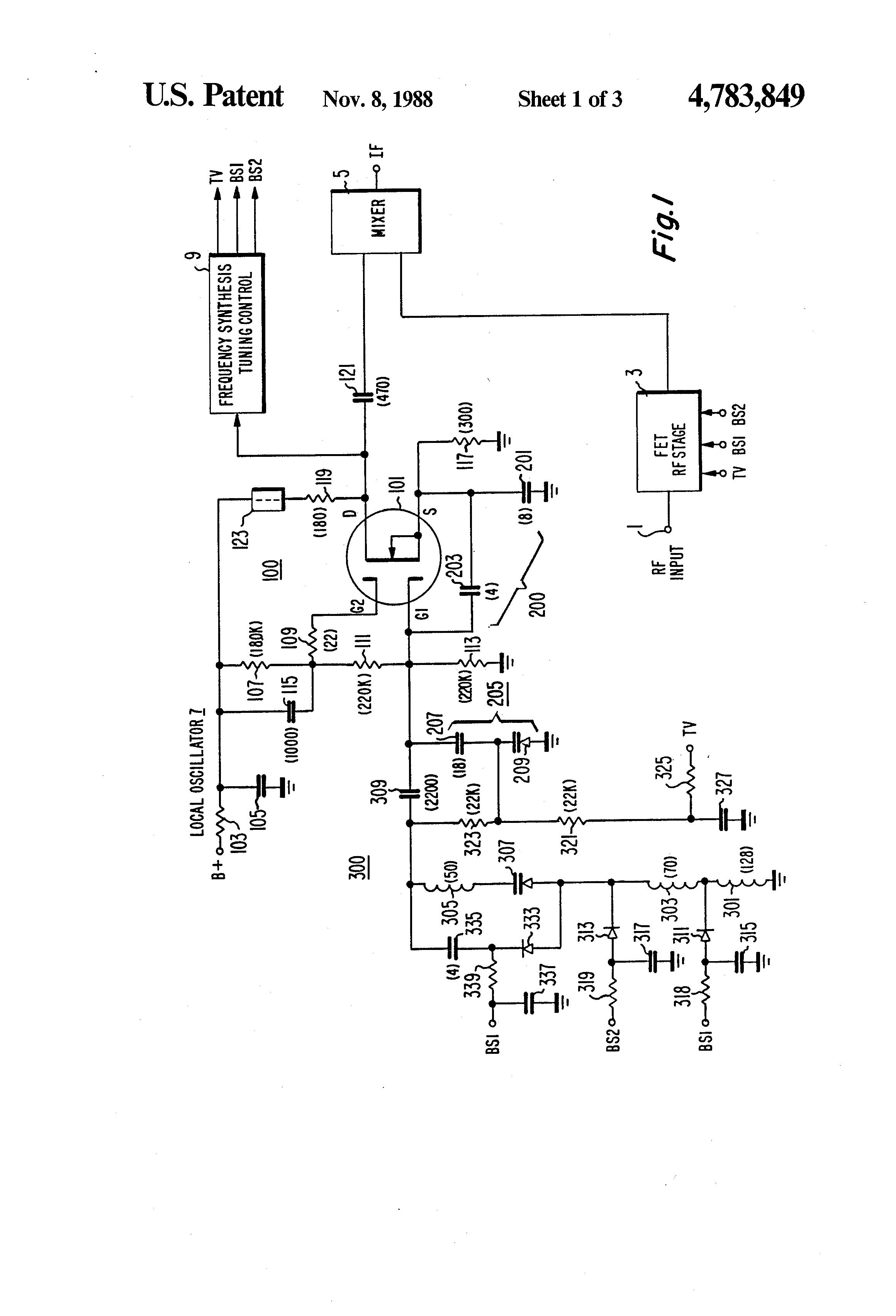 patent us4783849 - fet tuner