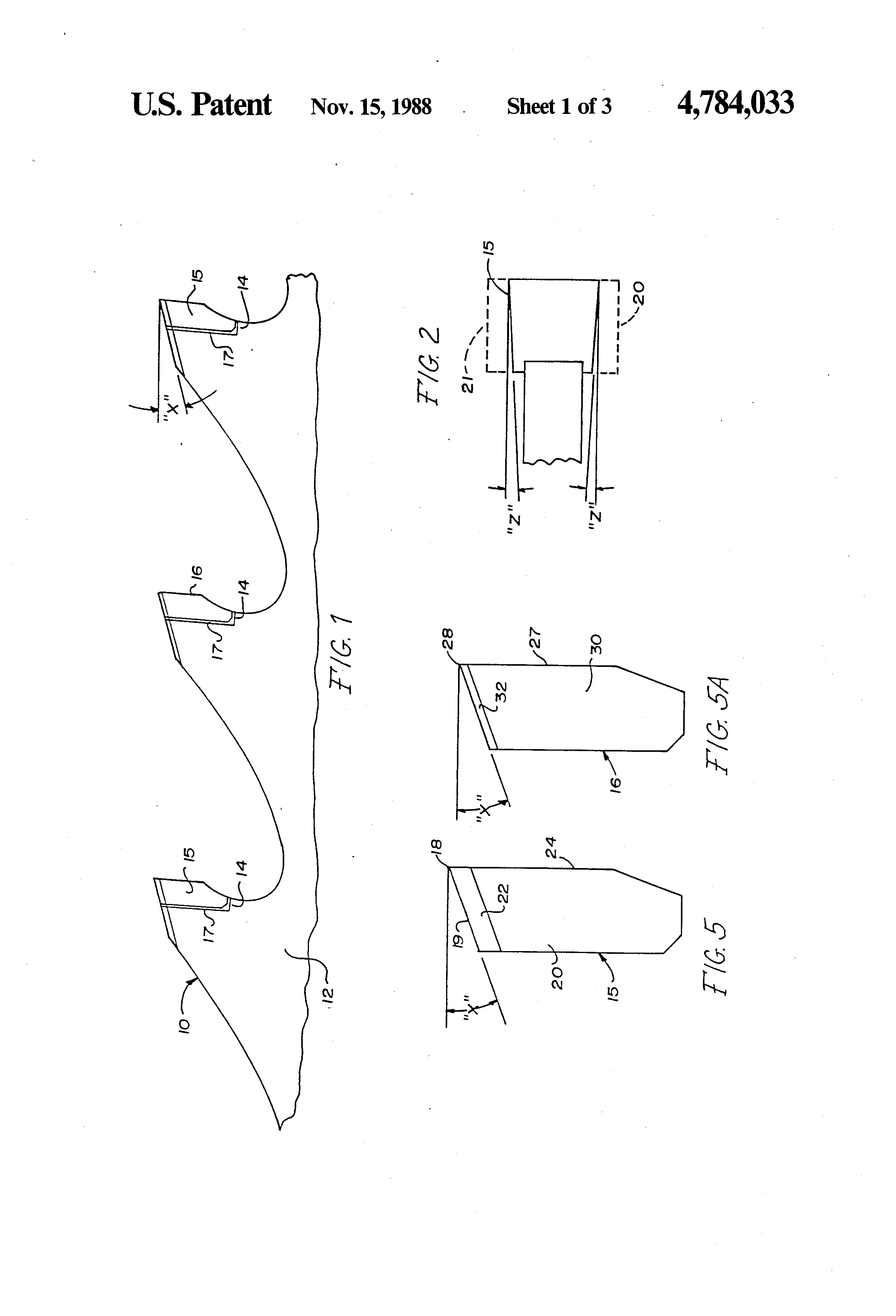 carbide bandsaw blade. patent drawing carbide bandsaw blade