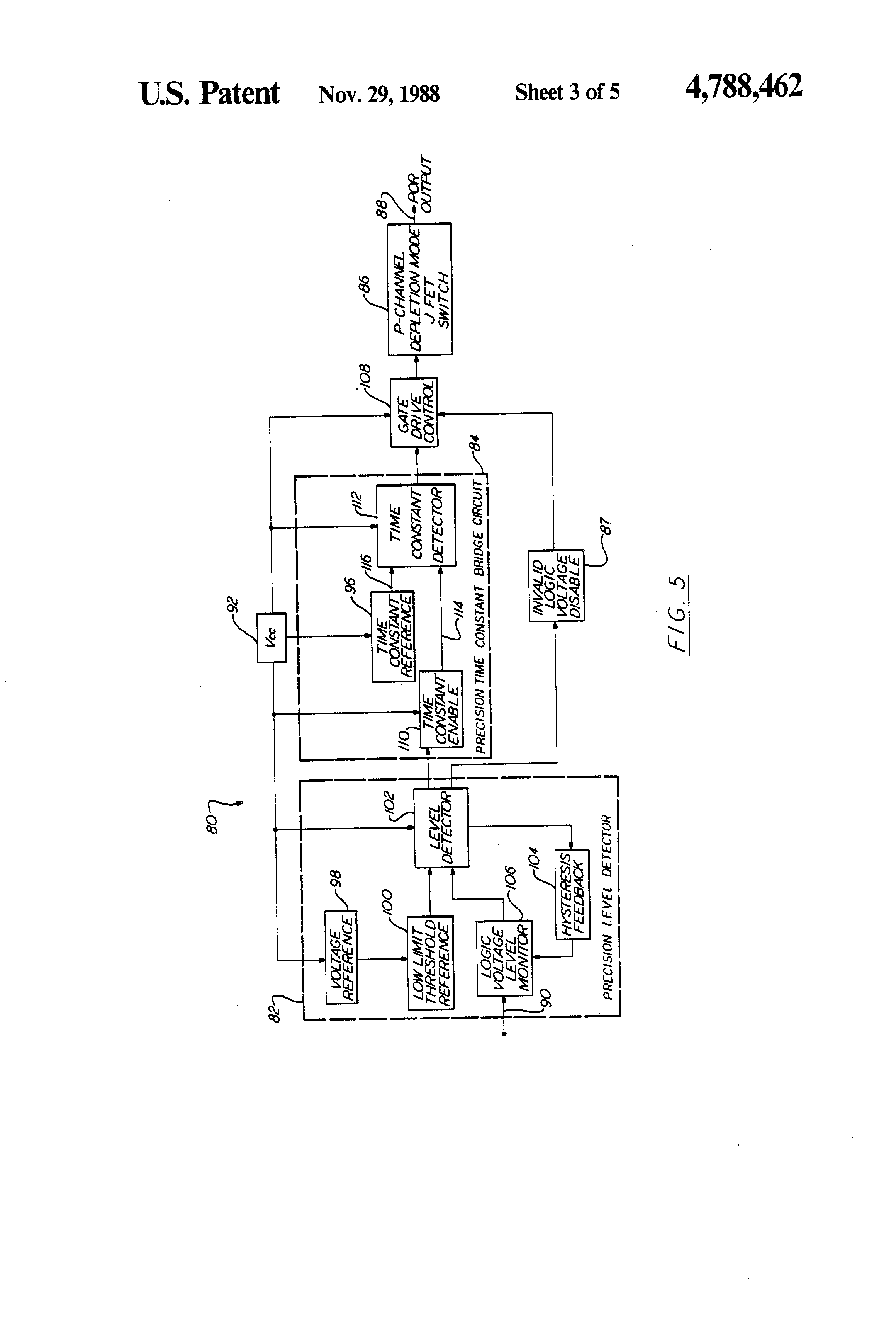 Patent Us4788462 Power On Reset Por Circuit Google Patents The Following Open Collector Drain Comparator With Hysteresis Drawing