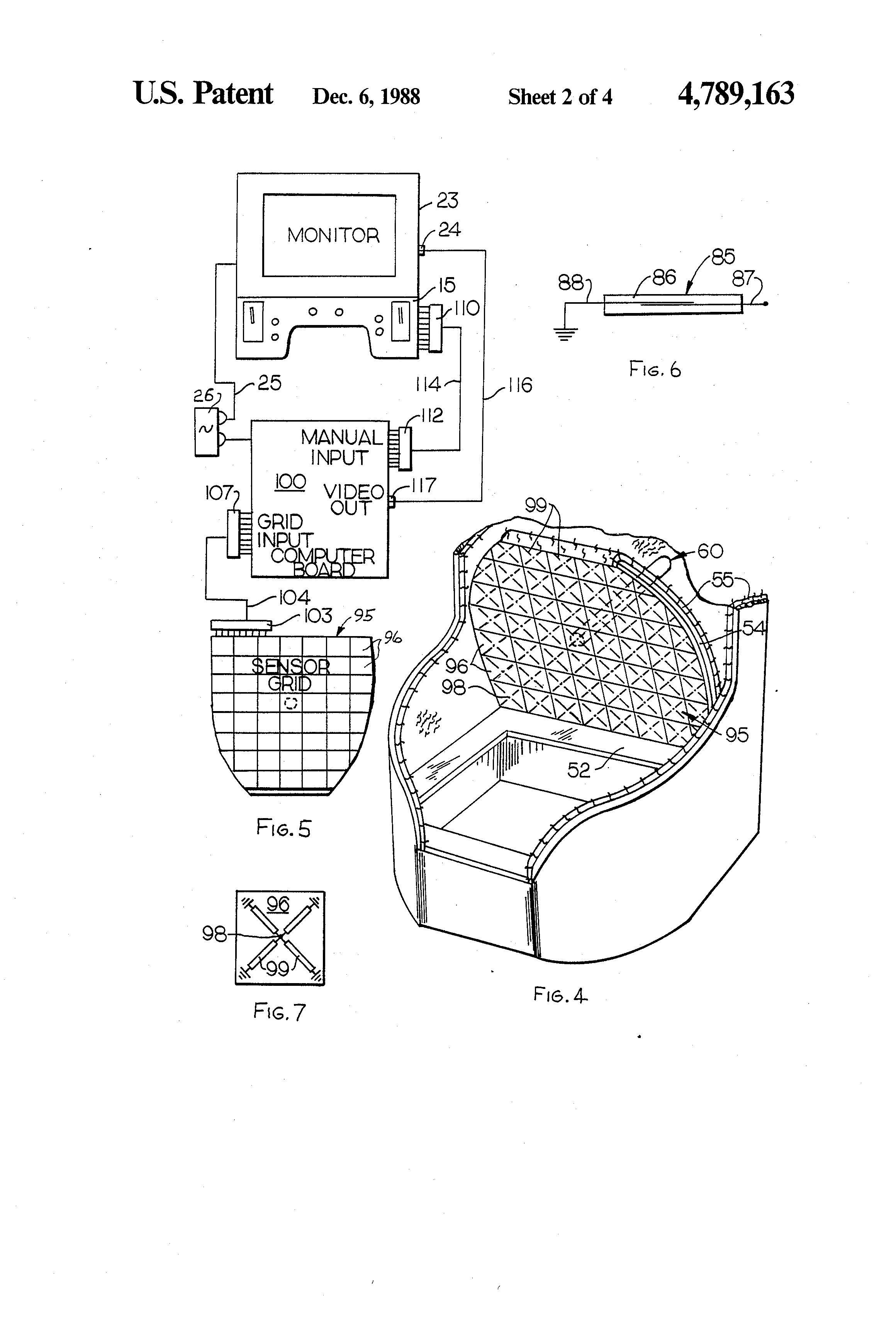 patent us4789163 - indoor horseshoe pitching game