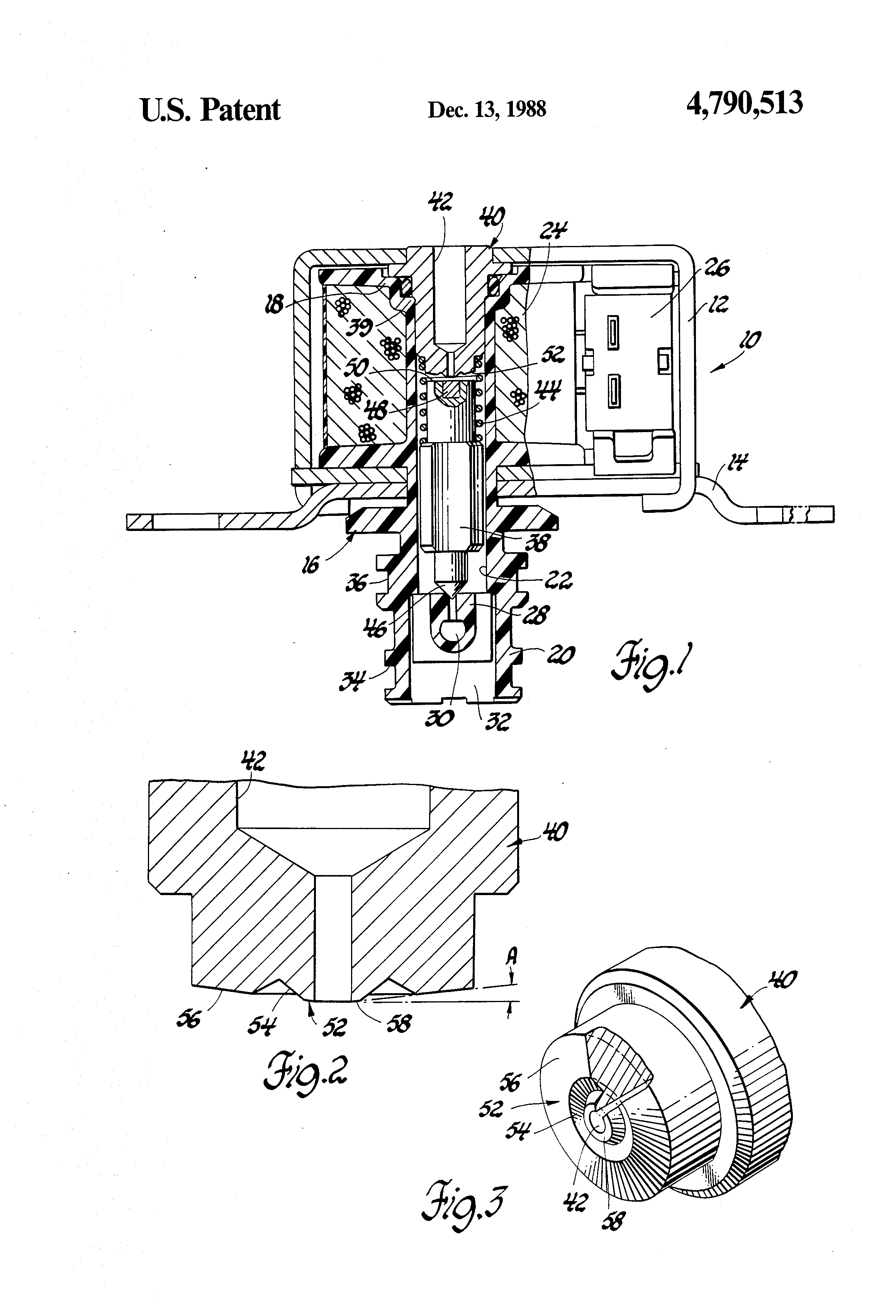 patent us4790513 - solenoid valve assembly