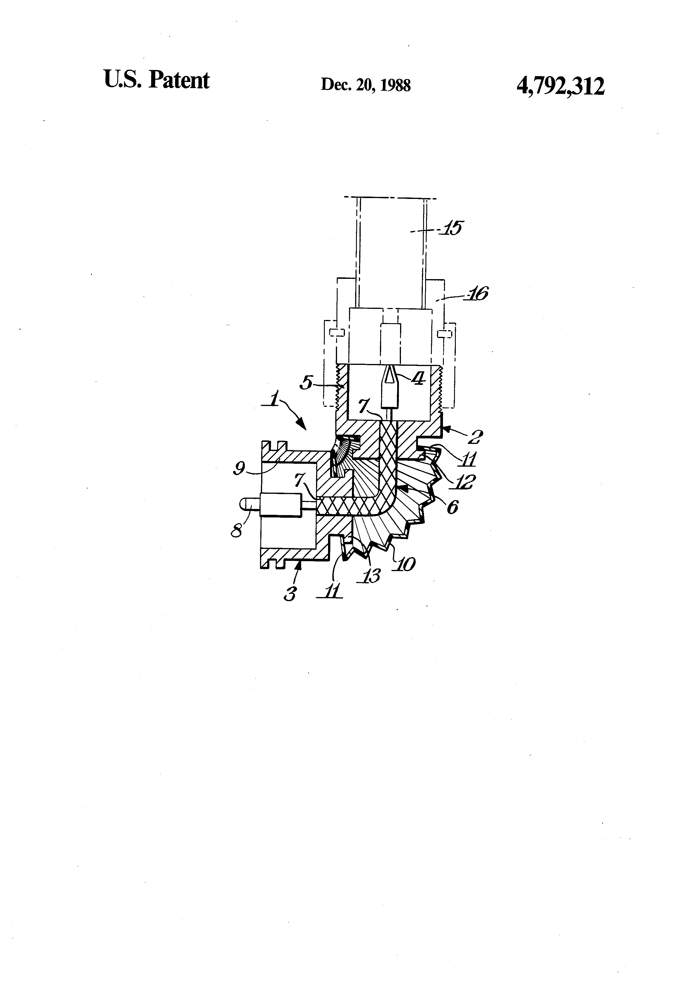 Patent Us4792312 Adaptor For Effecting A Tight Bend In Coaxial Coax Cable Schematic Drawing