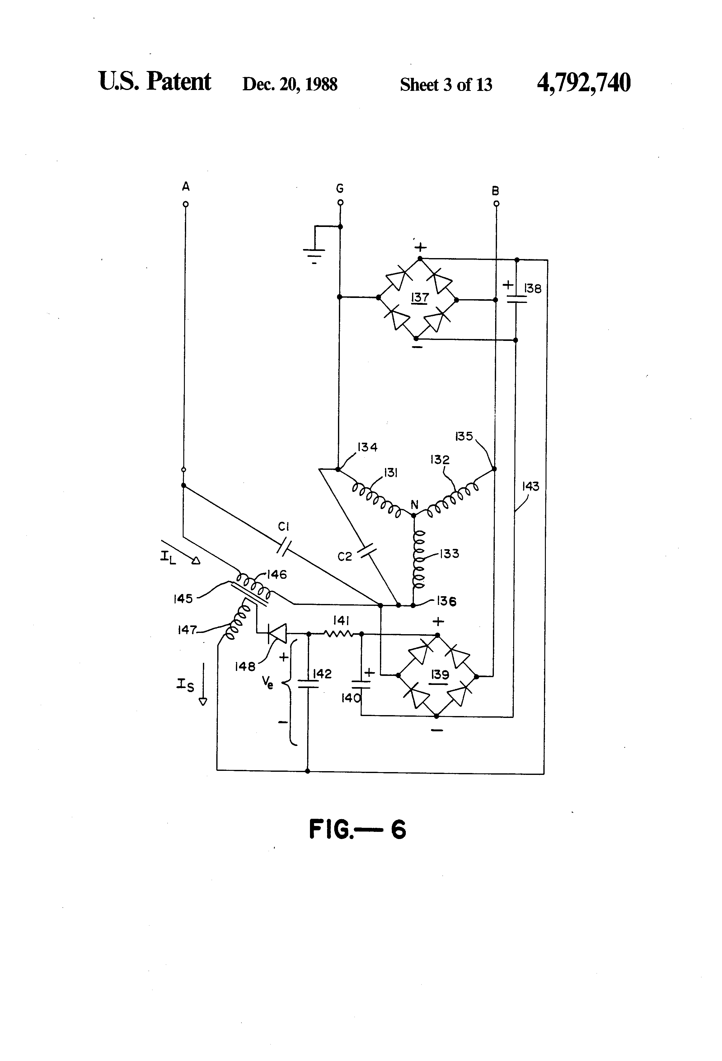 Patent Us4792740 Three Phase Induction Motor With Single