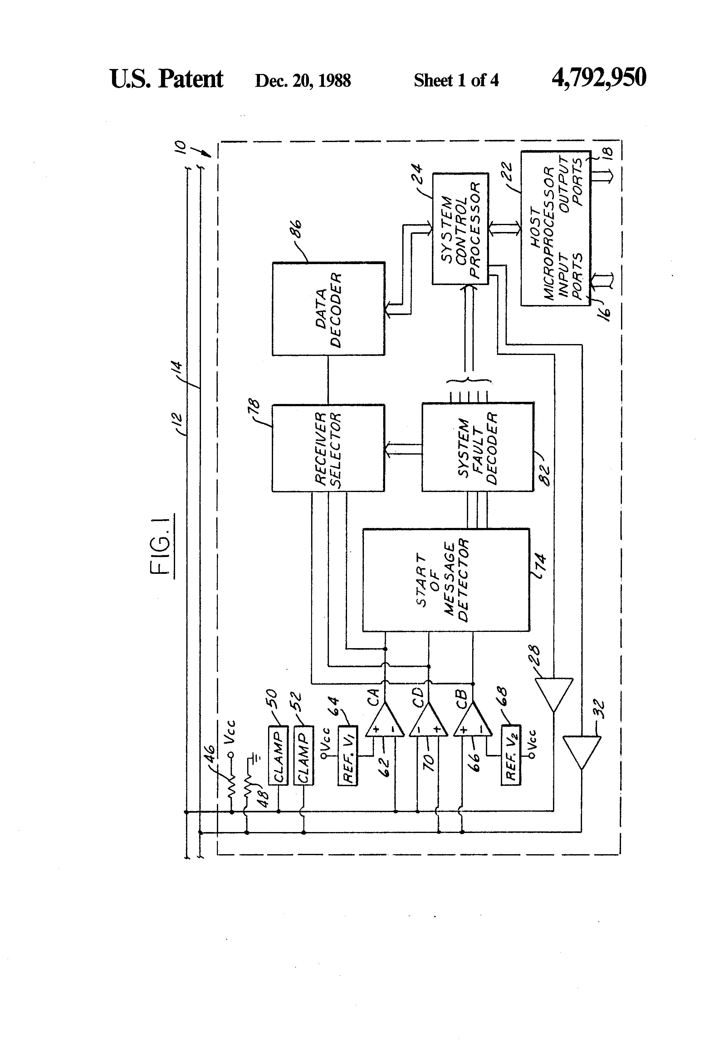 Patent Us4792950 - Multiplex Wiring System