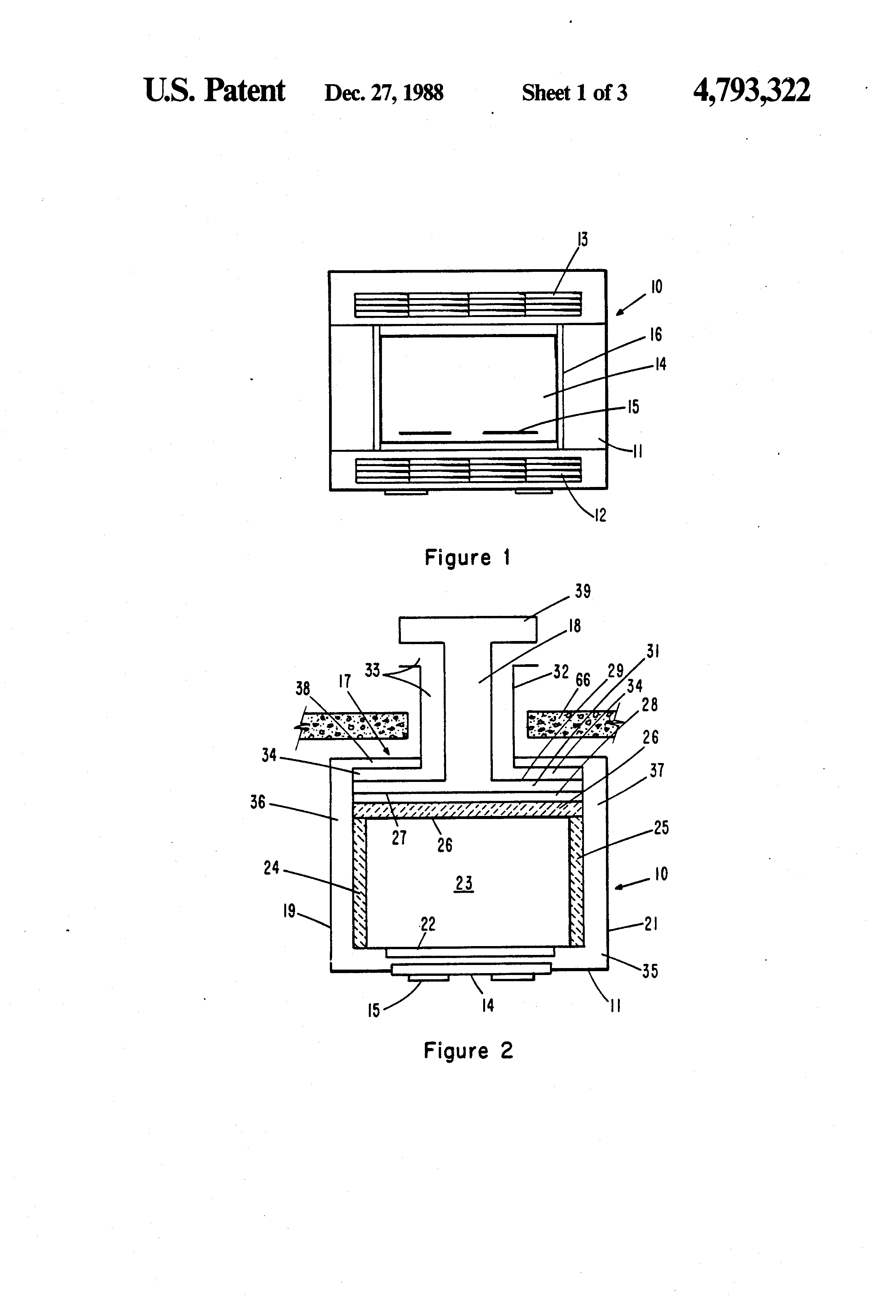 patent us4793322 direct vented gas fireplace google patents
