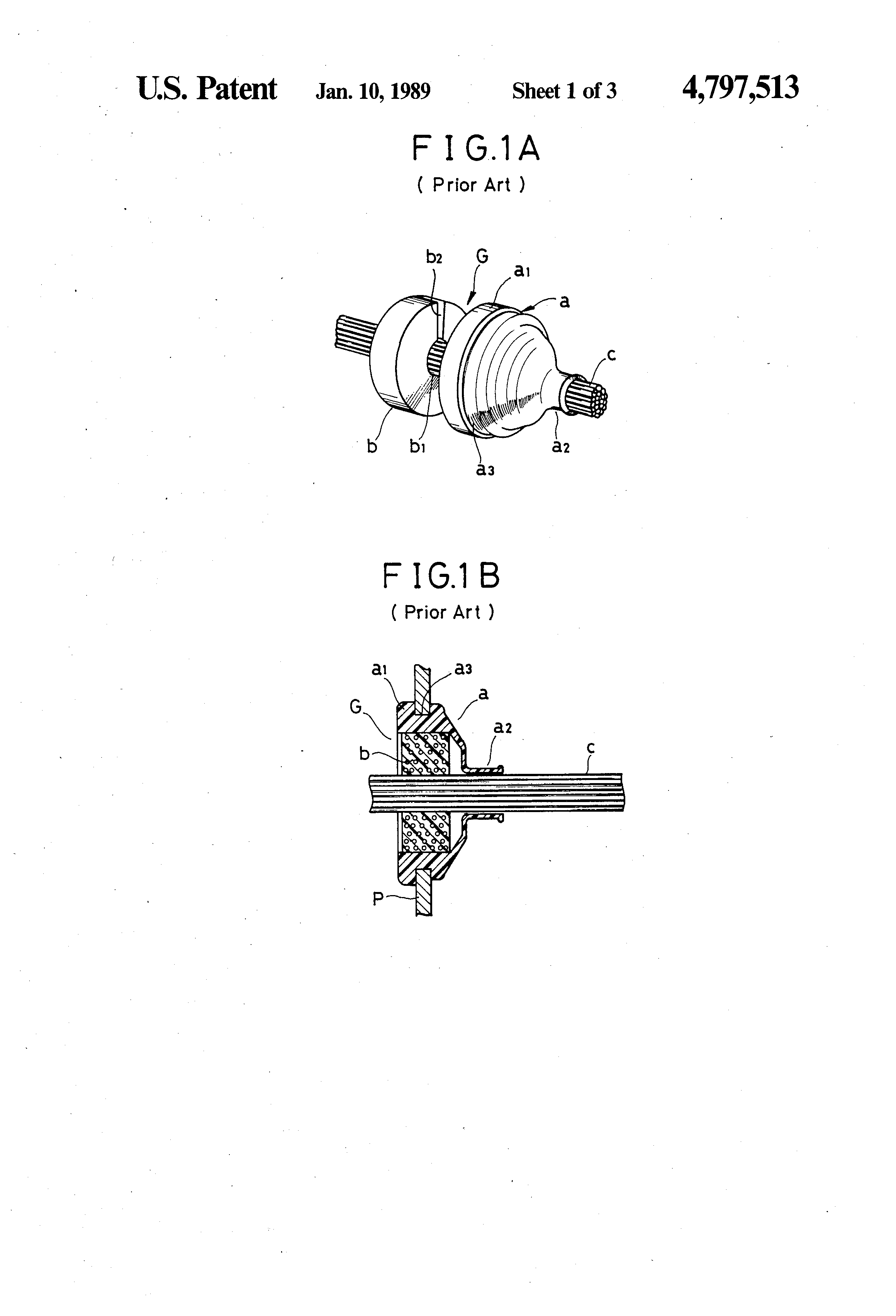 Patent Us4797513 Grommet With Wires Sealed Thereto And Method Of Wiring Grommets White Drawing