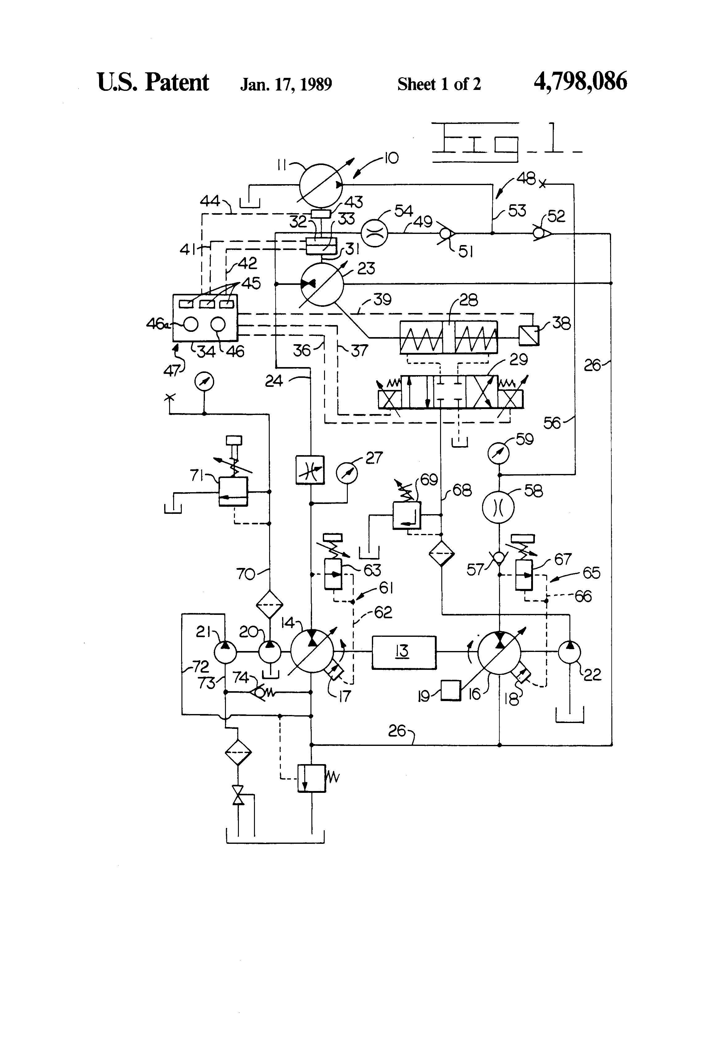 Patent us4798086 test bench for testing hydraulic pumps Hydraulic motor testing