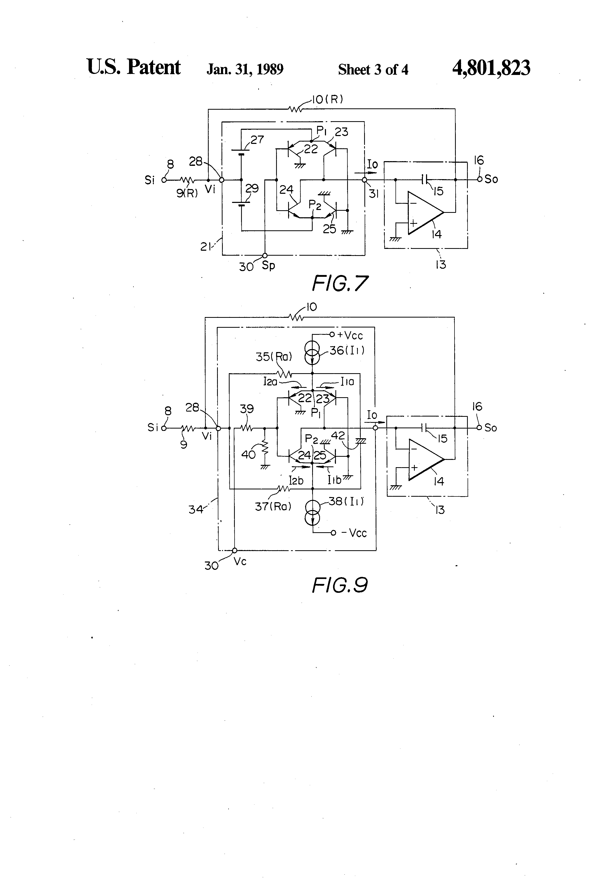 patent us4801823 - sample hold circuit