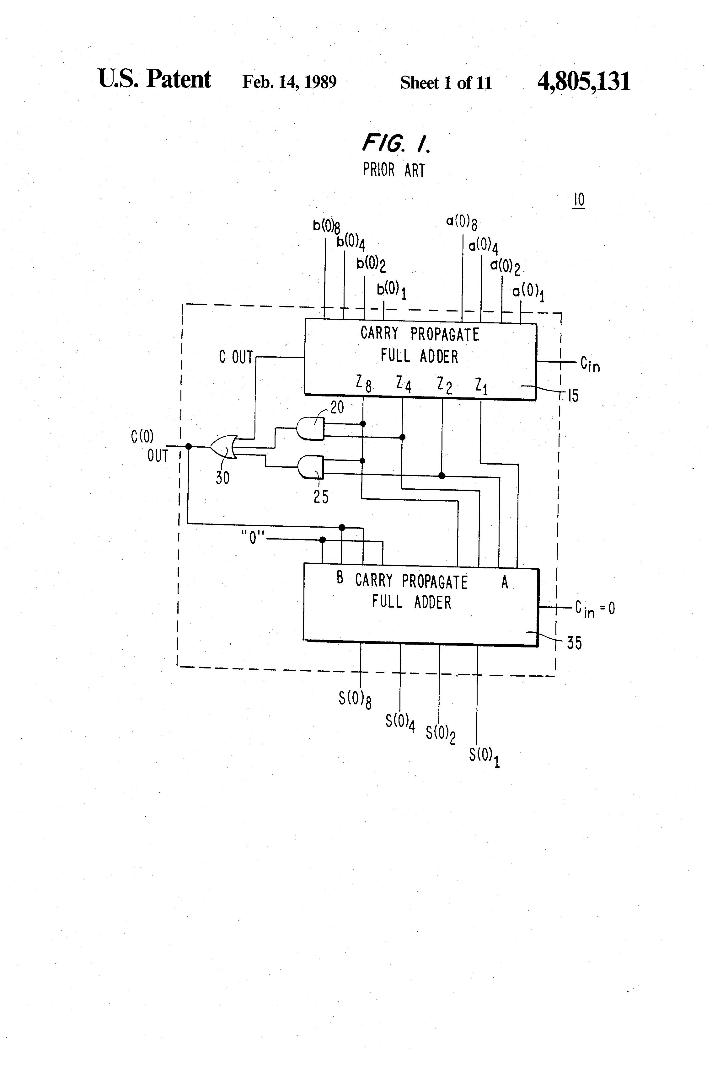 patent us4805131 - bcd adder circuit