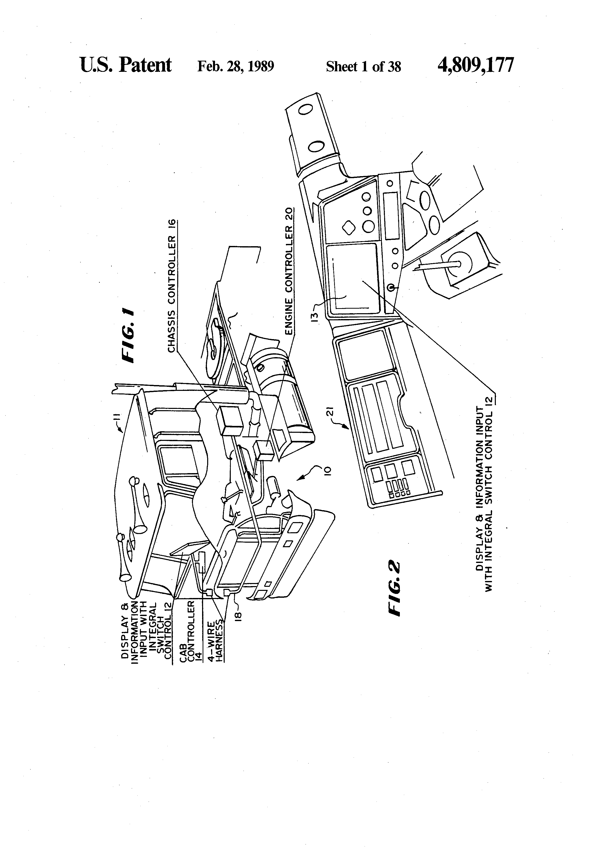 US4809177 1 patent us4809177 multiplexed electrical wiring system for a,Peterson Trailer Wiring Diagram