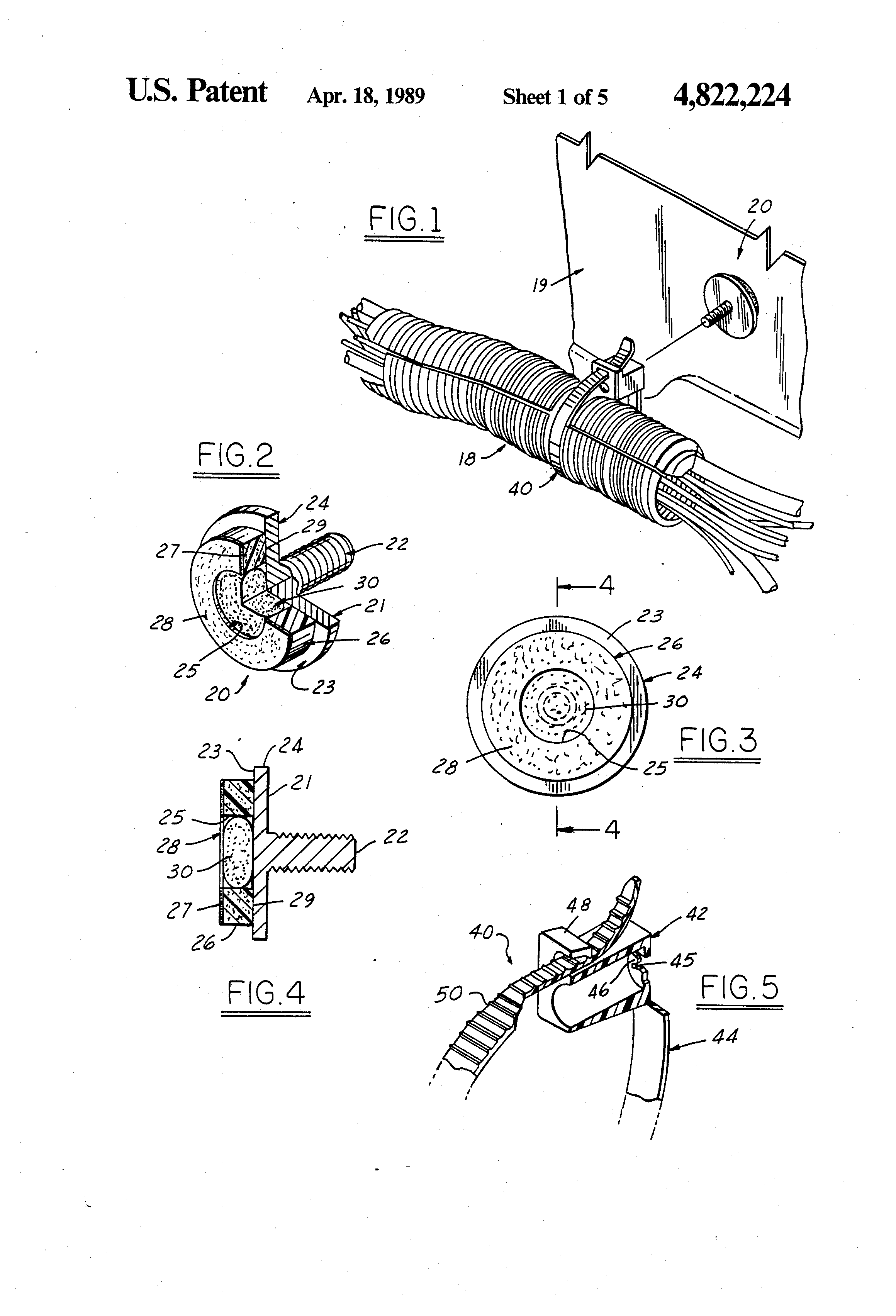patent us4822224 - harness retainer stud