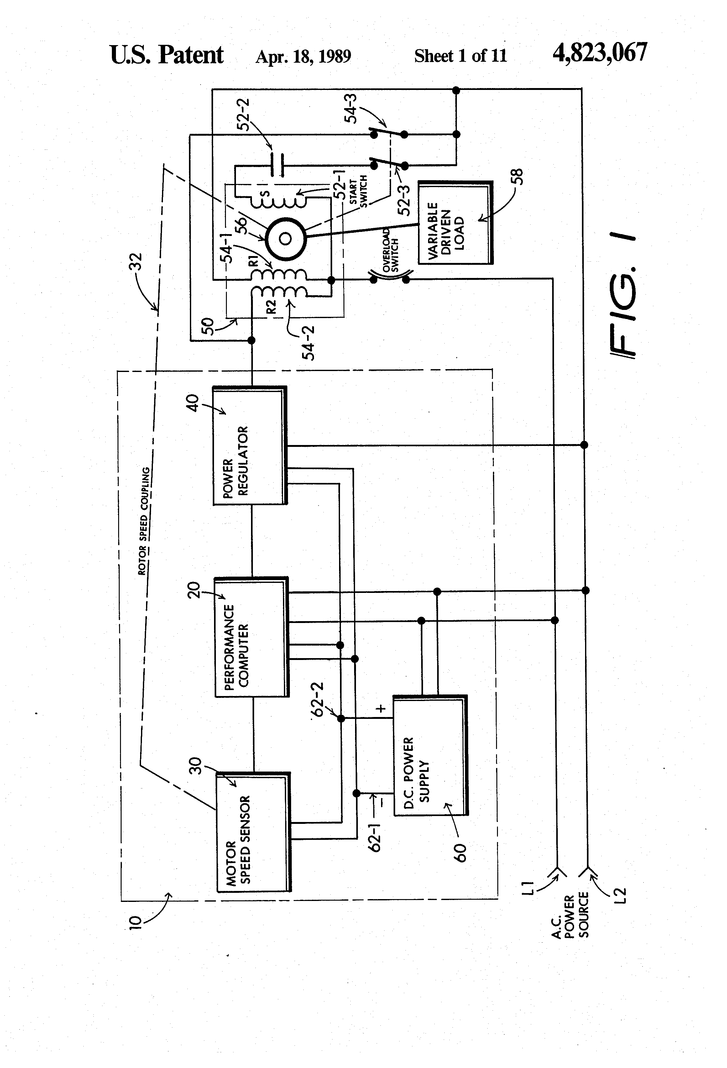 patent us4823067 energy conserving electric induction motor patent drawing