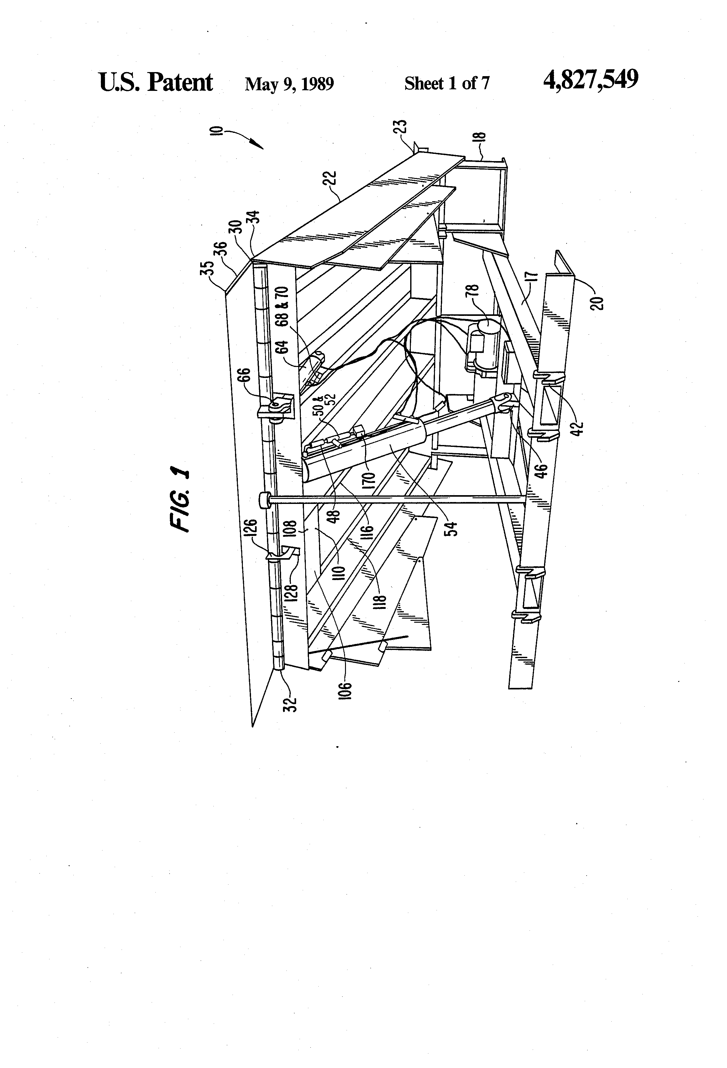 patent us4827549 hydraulic dock leveler google patents patent drawing