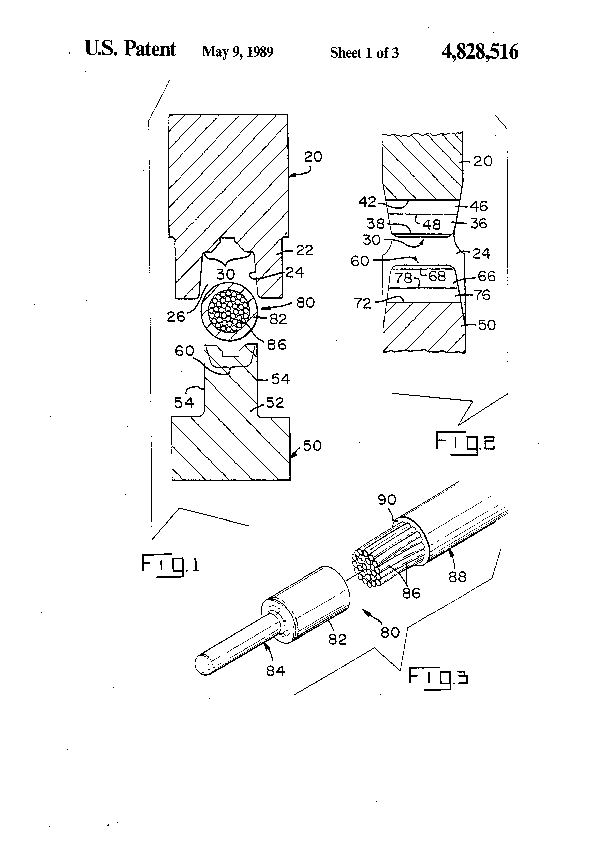 patent us4828516 - crimped electrical connection and crimping dies therefore