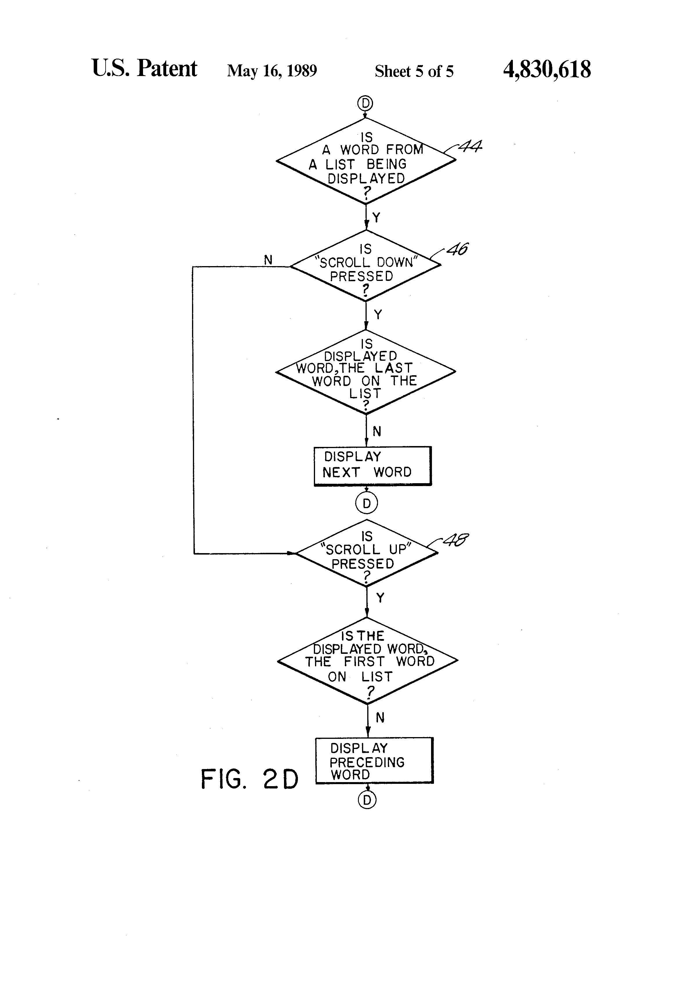 Patent US4830618 - Electronic spelling machine - Google Patents