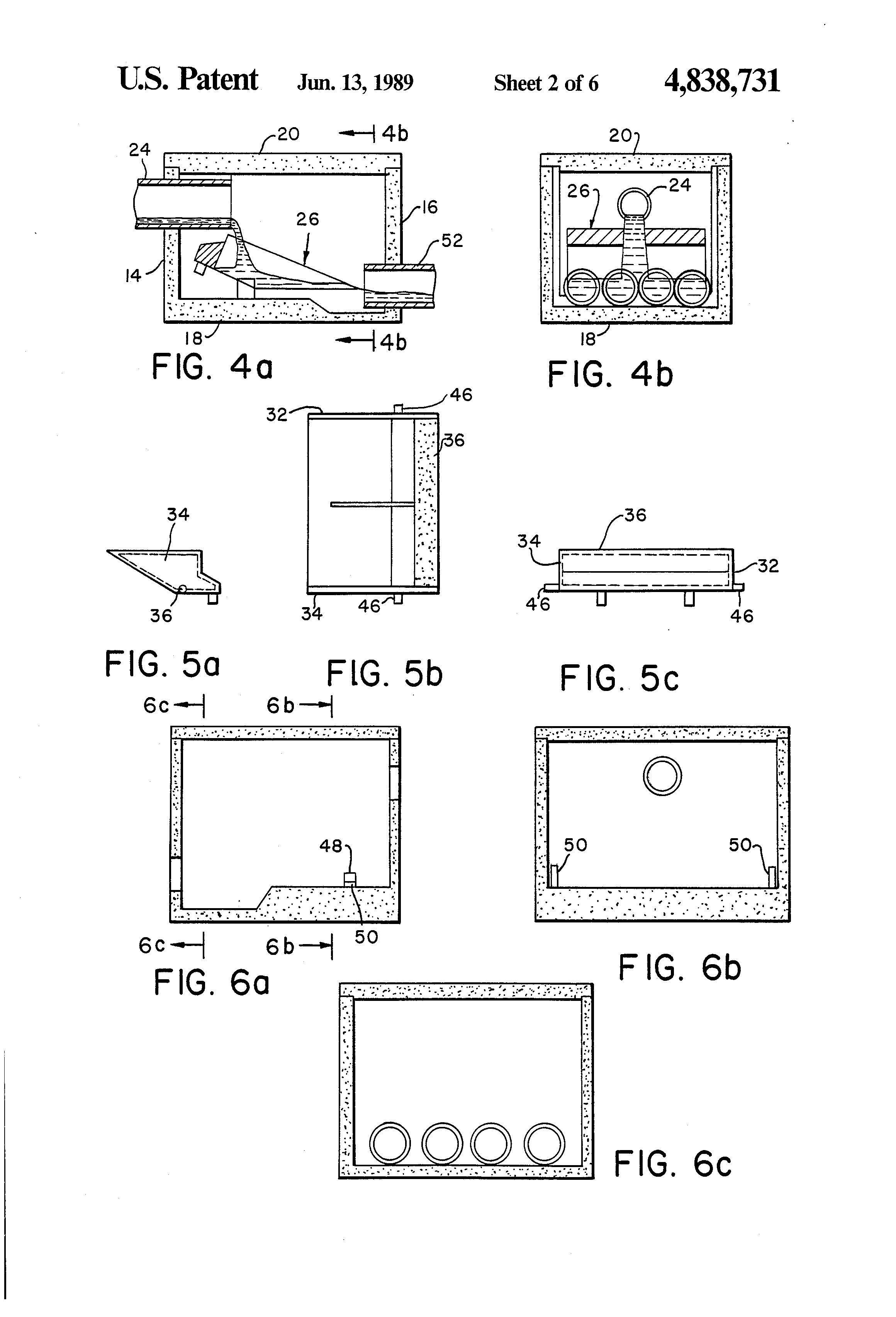Patent us4838731 septic tank distribution box system for Septic tank distribution box location