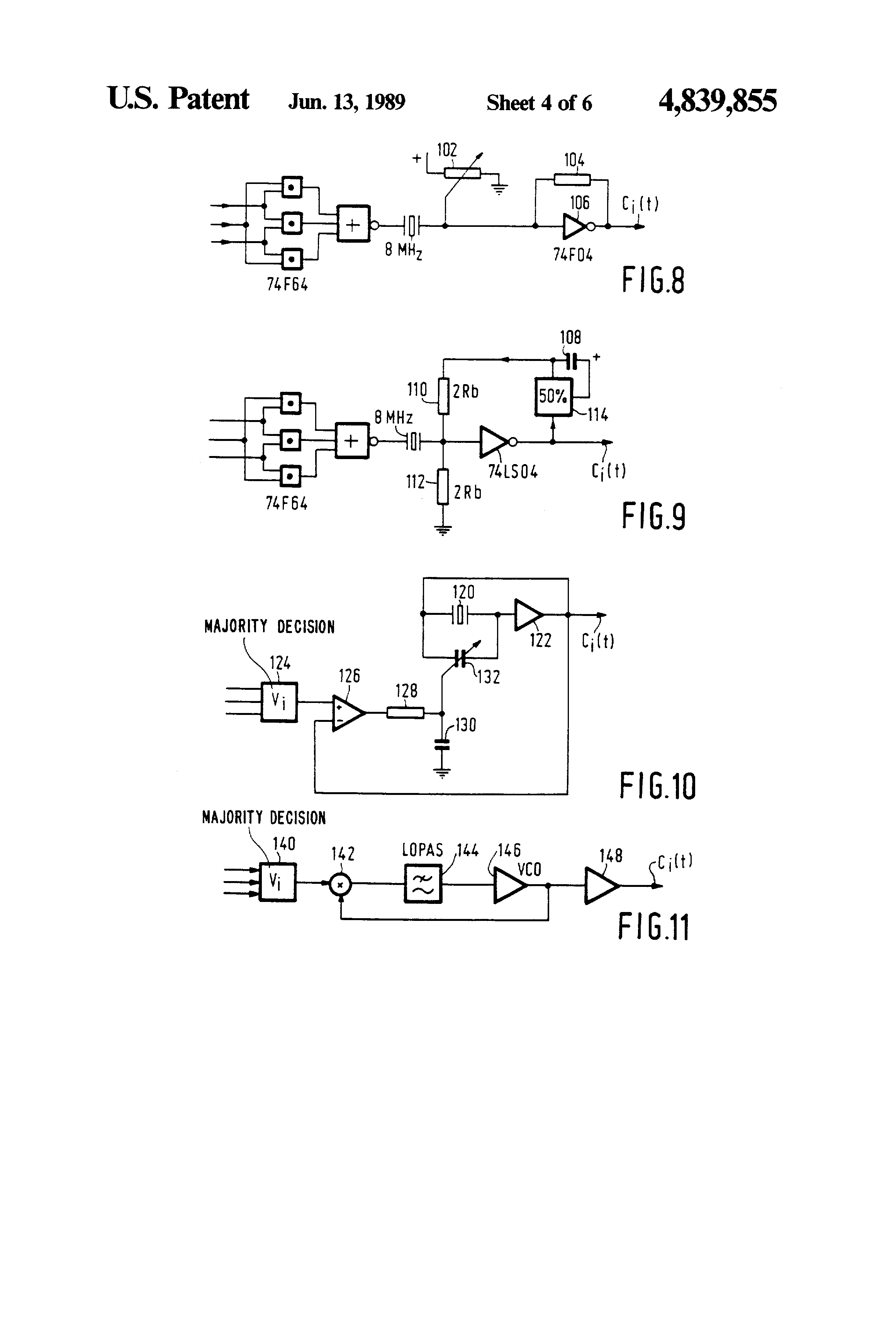 Patent Us4839855 Multiple Redundant Clock Circuit Google Patents Comparator Oscillator By Lm311 Drawing