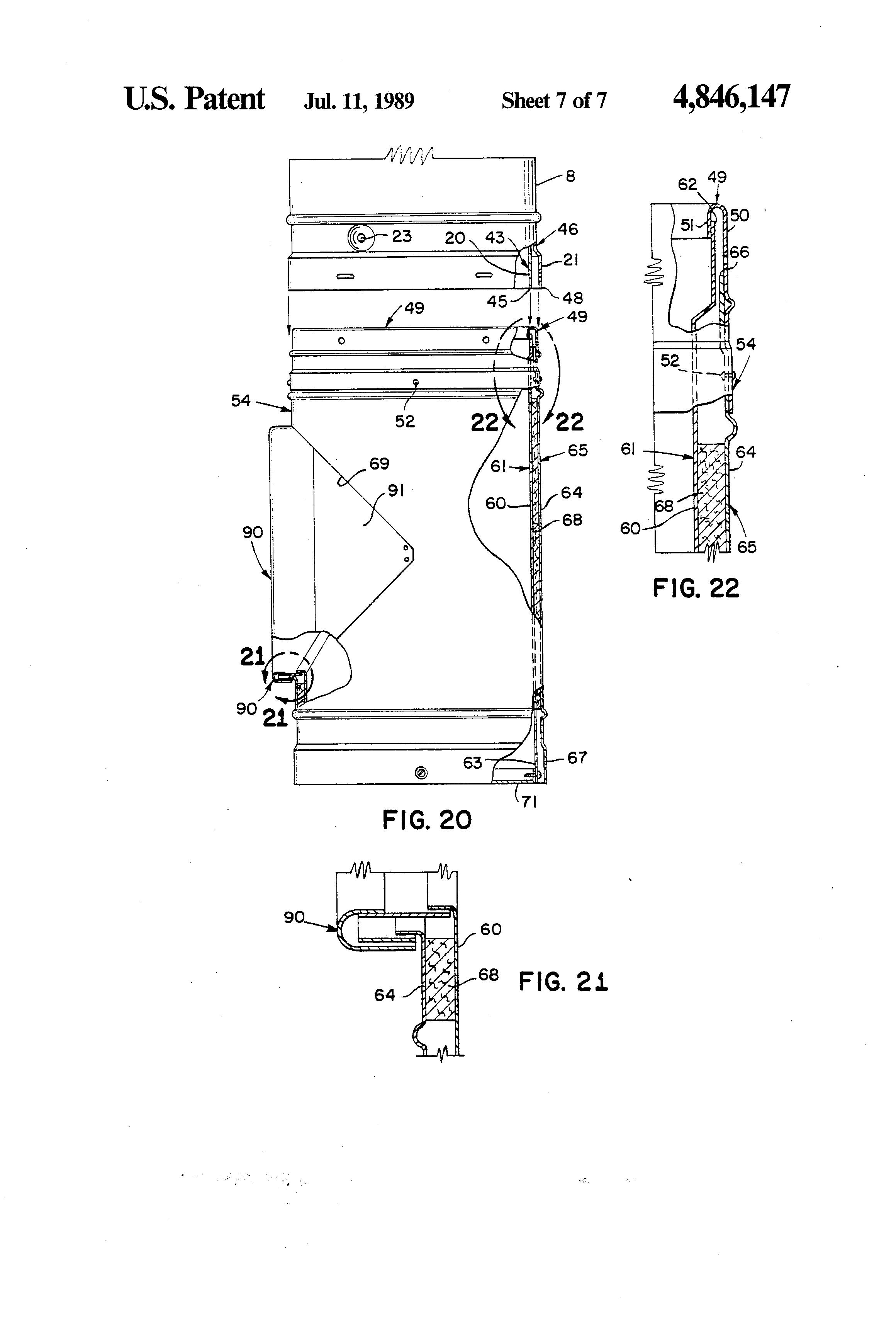 Patent Us4846147 Chimney Liner System Google Patenten