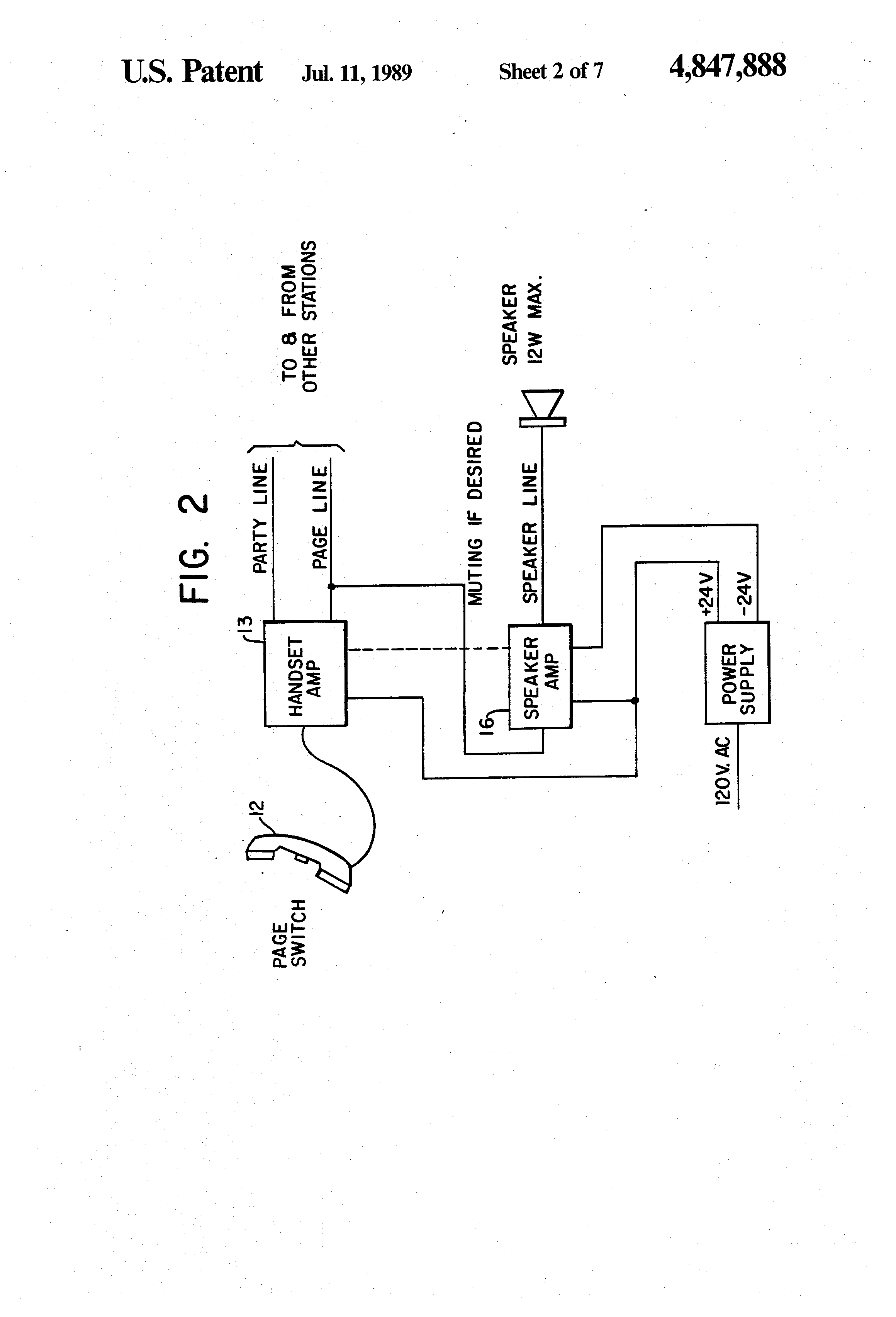 patent us4847888 - field telephone system