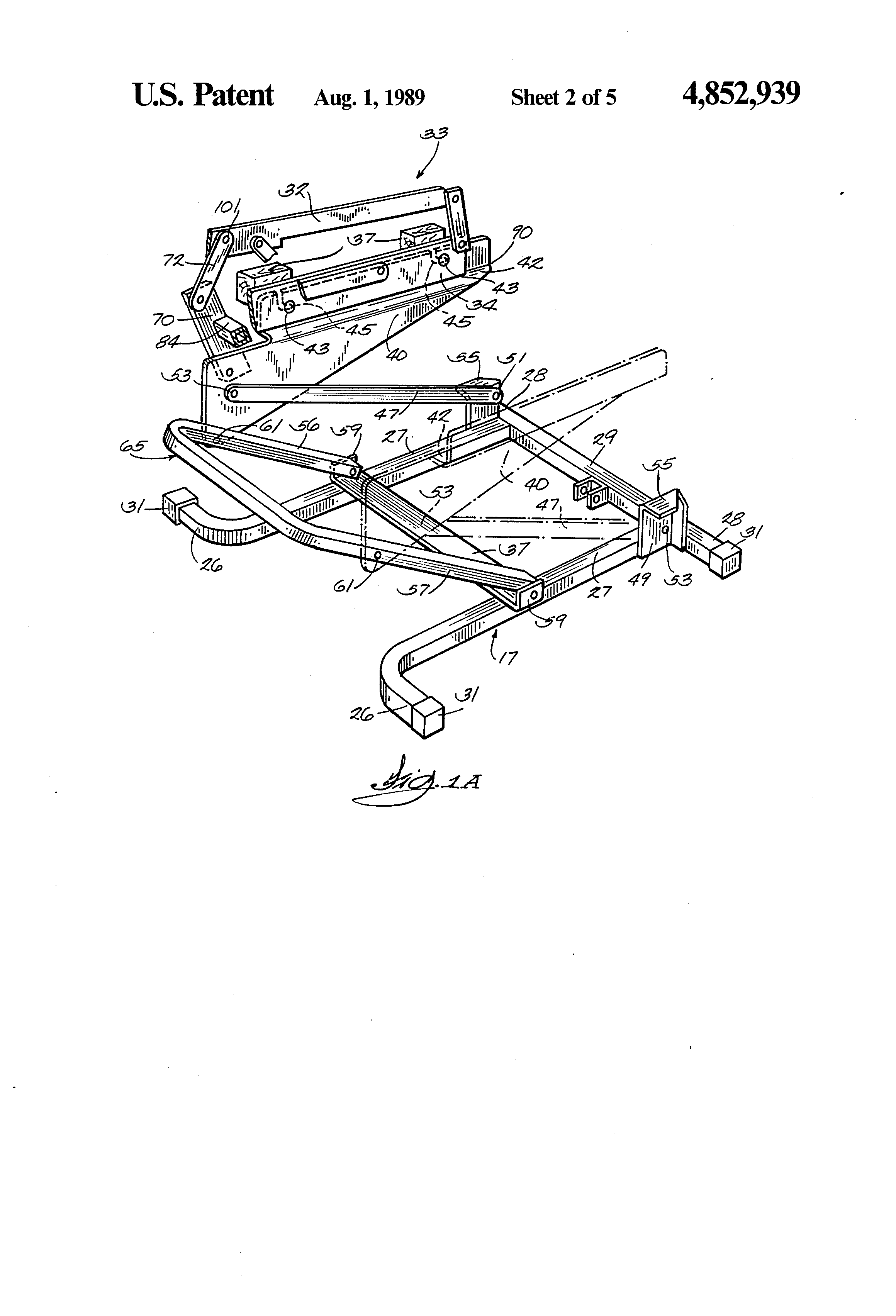 Patent US Device for converting a recliner chair to a