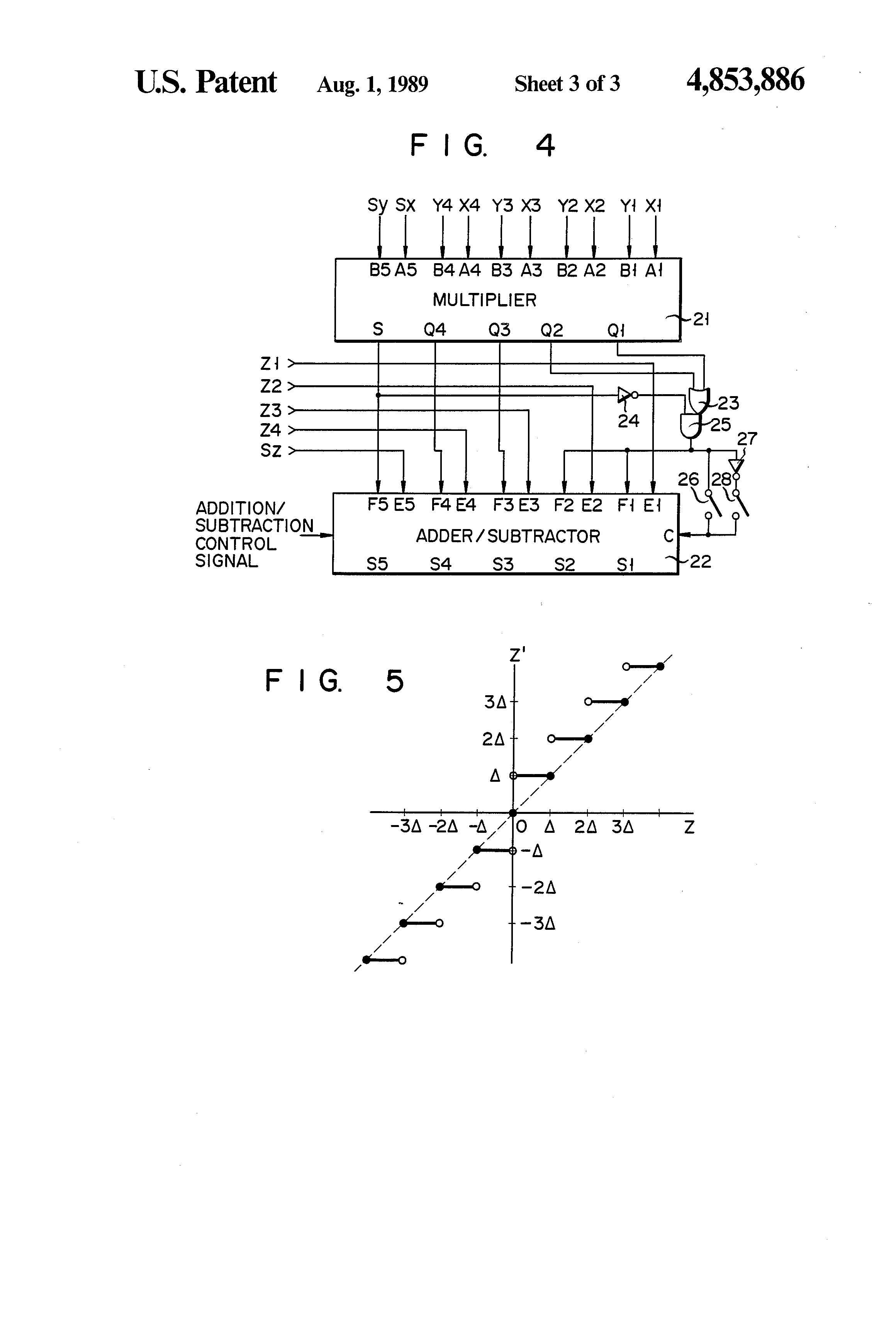 Patent Us4853886 Digital Signal Processing Circuit Google Patents Binary Subtractor Drawing