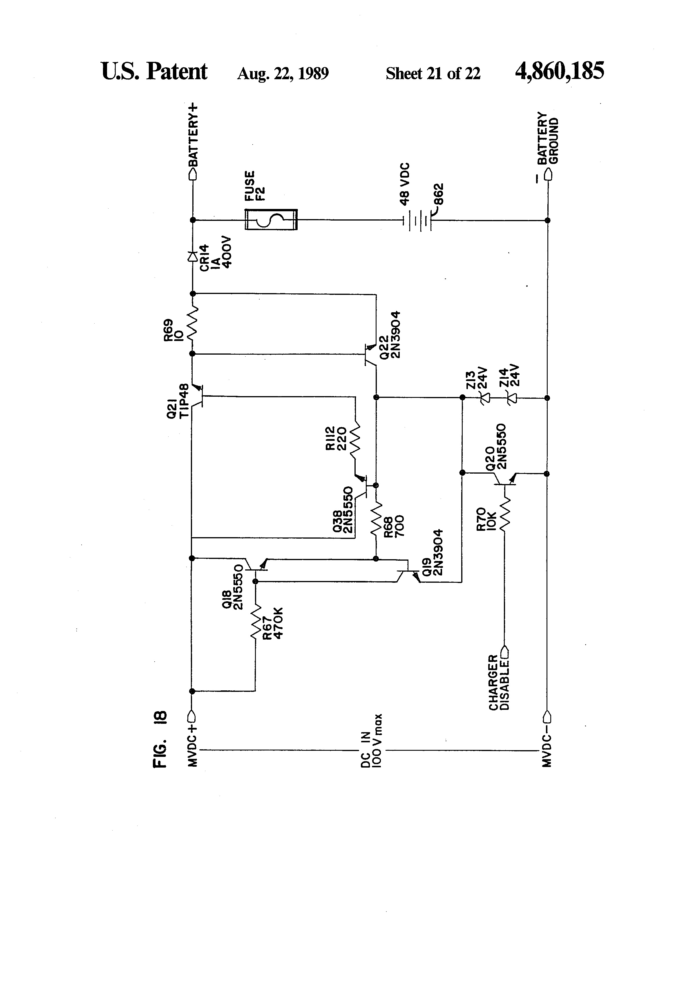 patent us4860185 integrated uninterruptible power supply for patent drawing