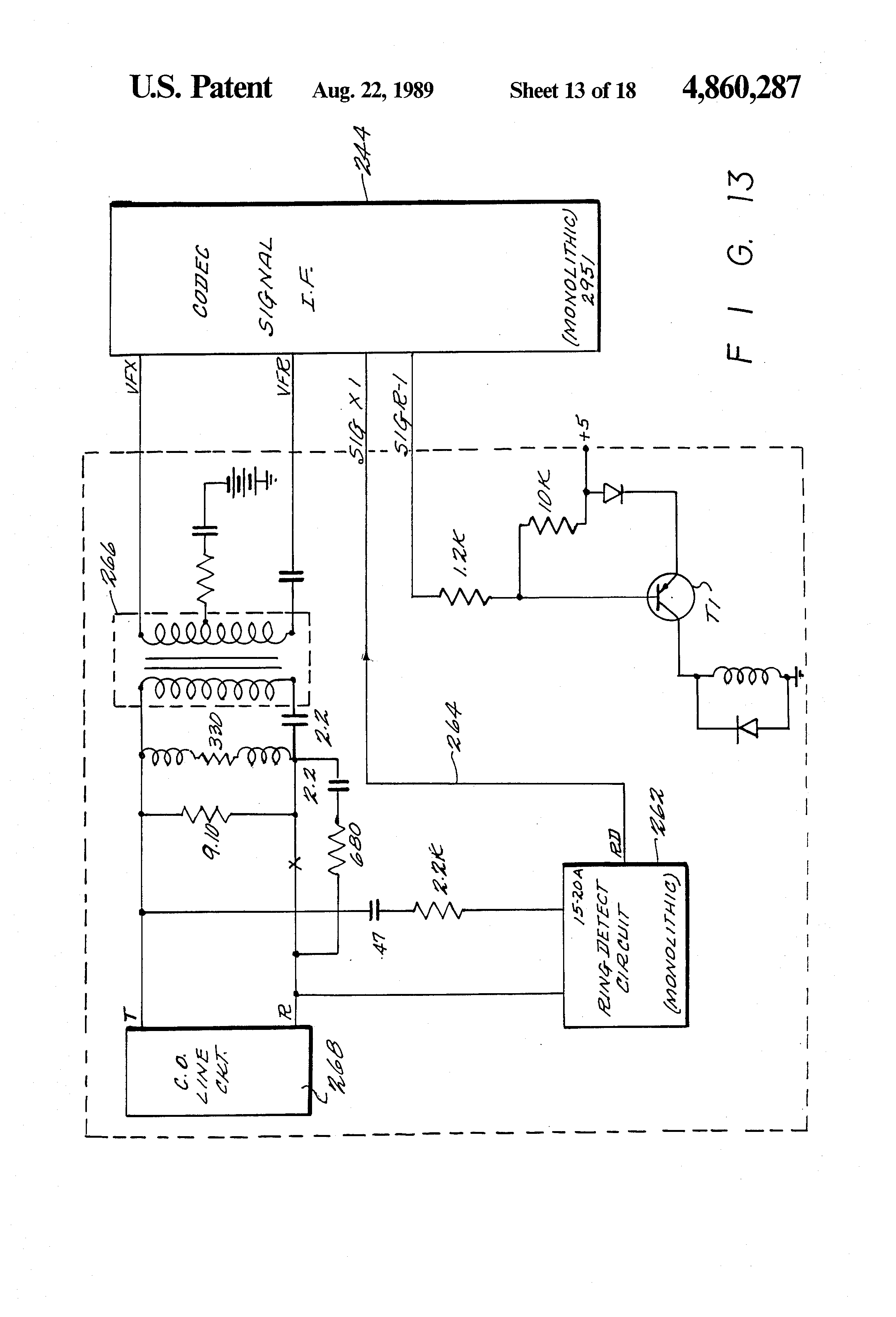 patent us network having a synchronizer for patent drawing
