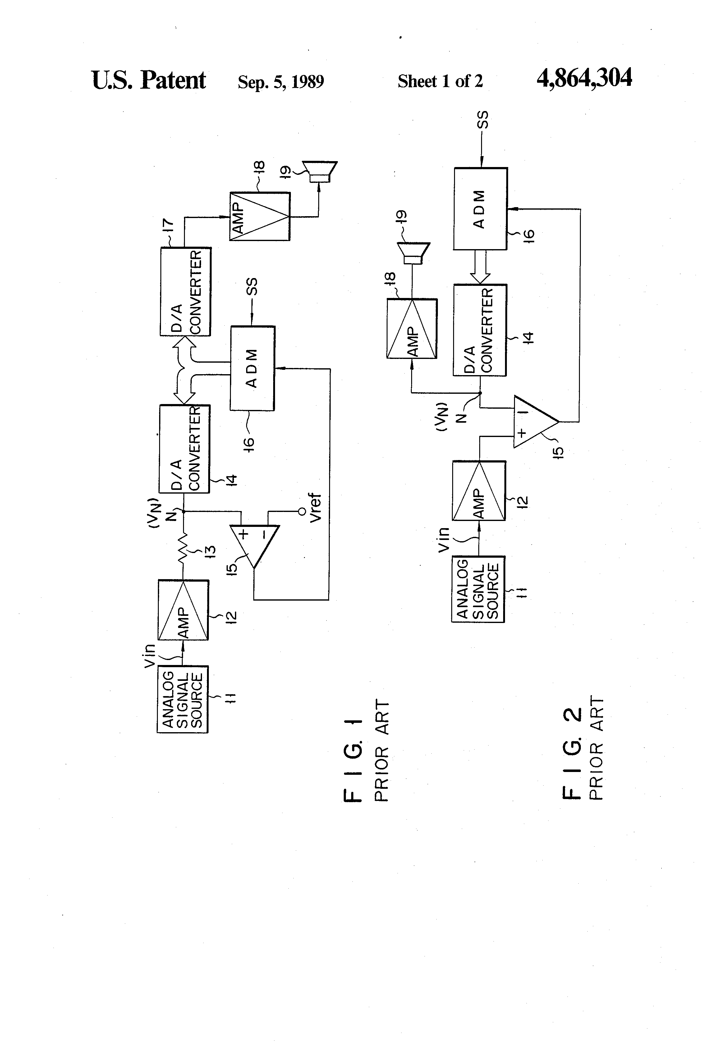 Patent Us4864304 Analog Voltage Signal Comparator Circuit Google Circuits Schematic Drawing