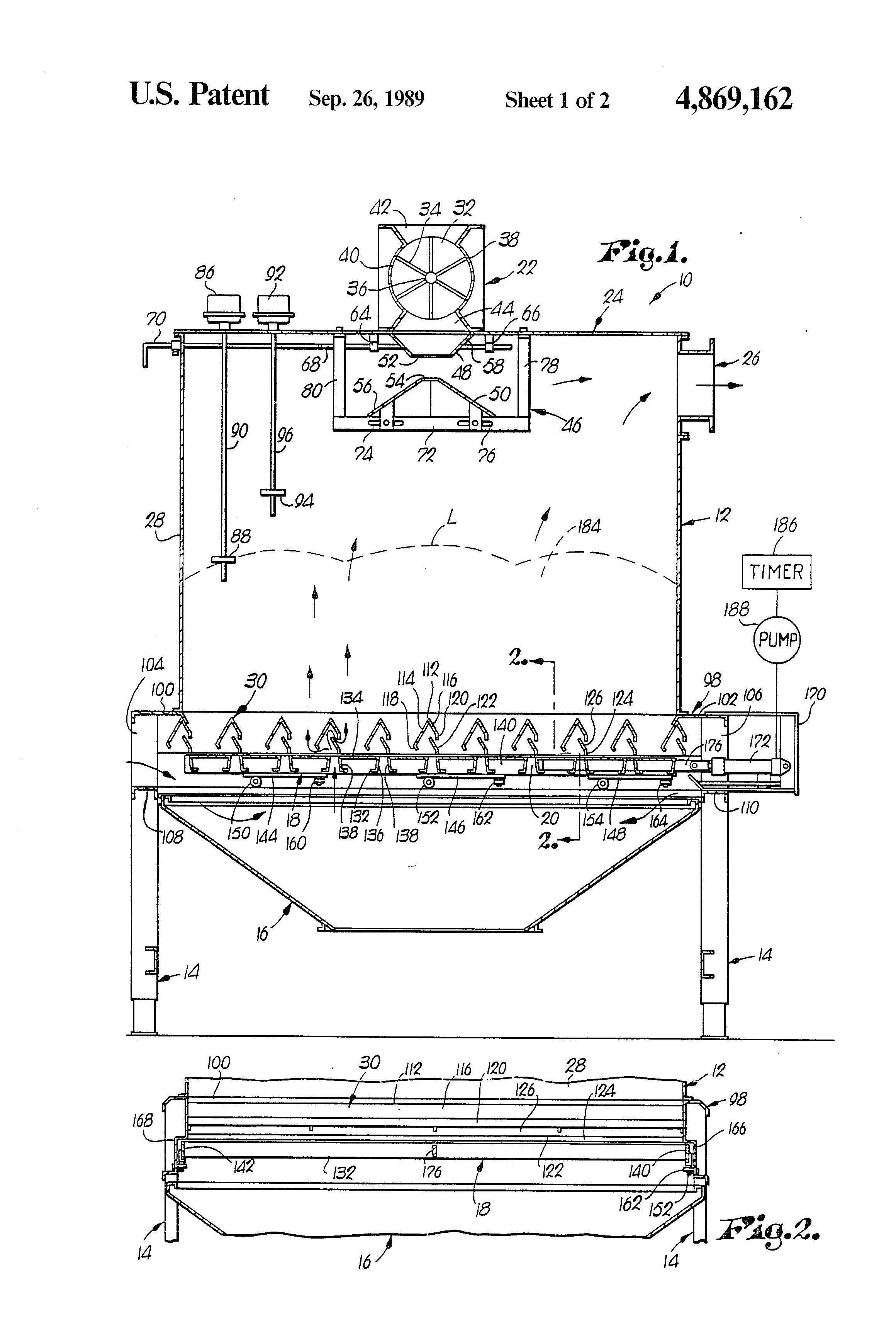 Patent Us4869162 - Counterflow Cooler For Pellets