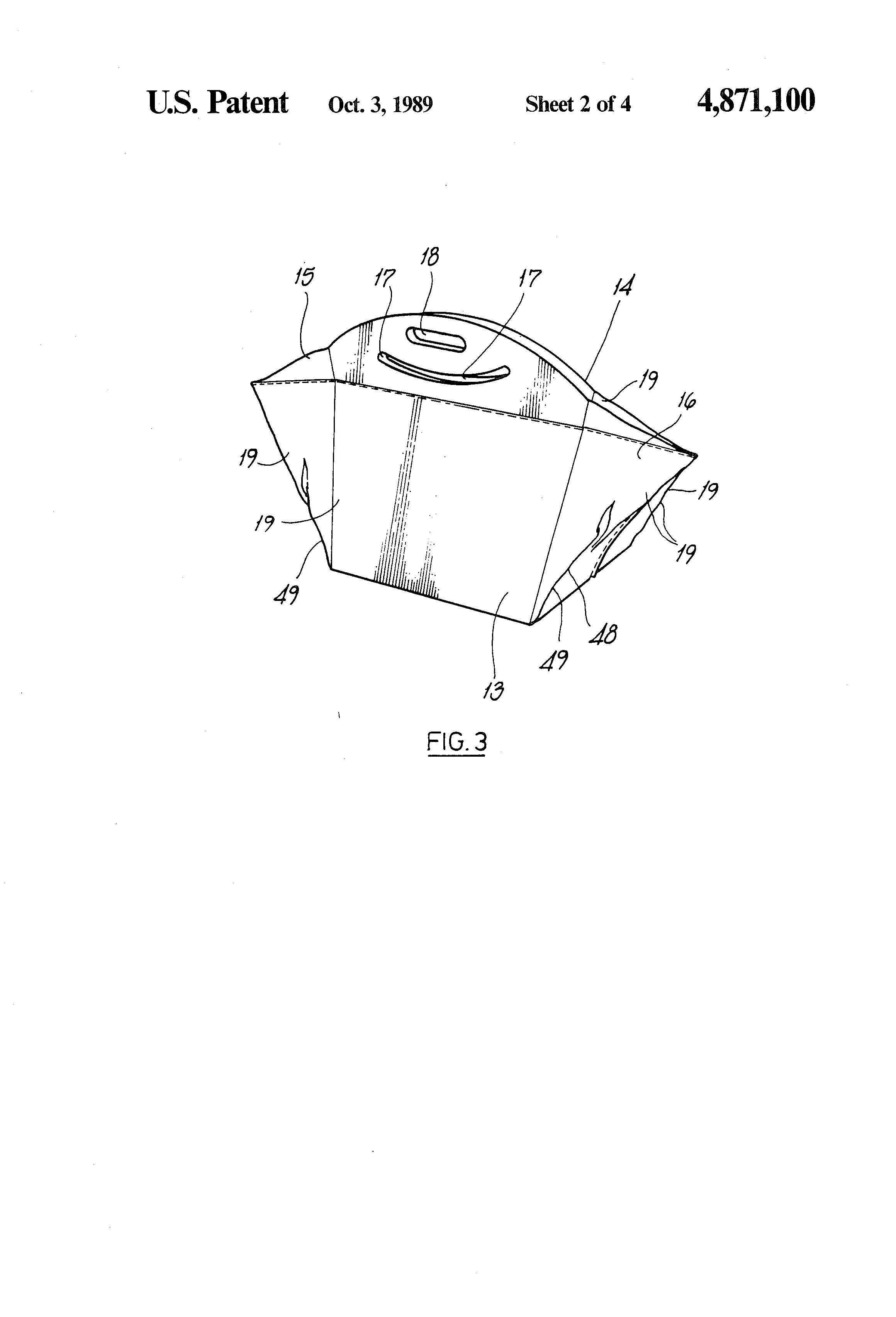 patente us4871100 shopping bag google patentes